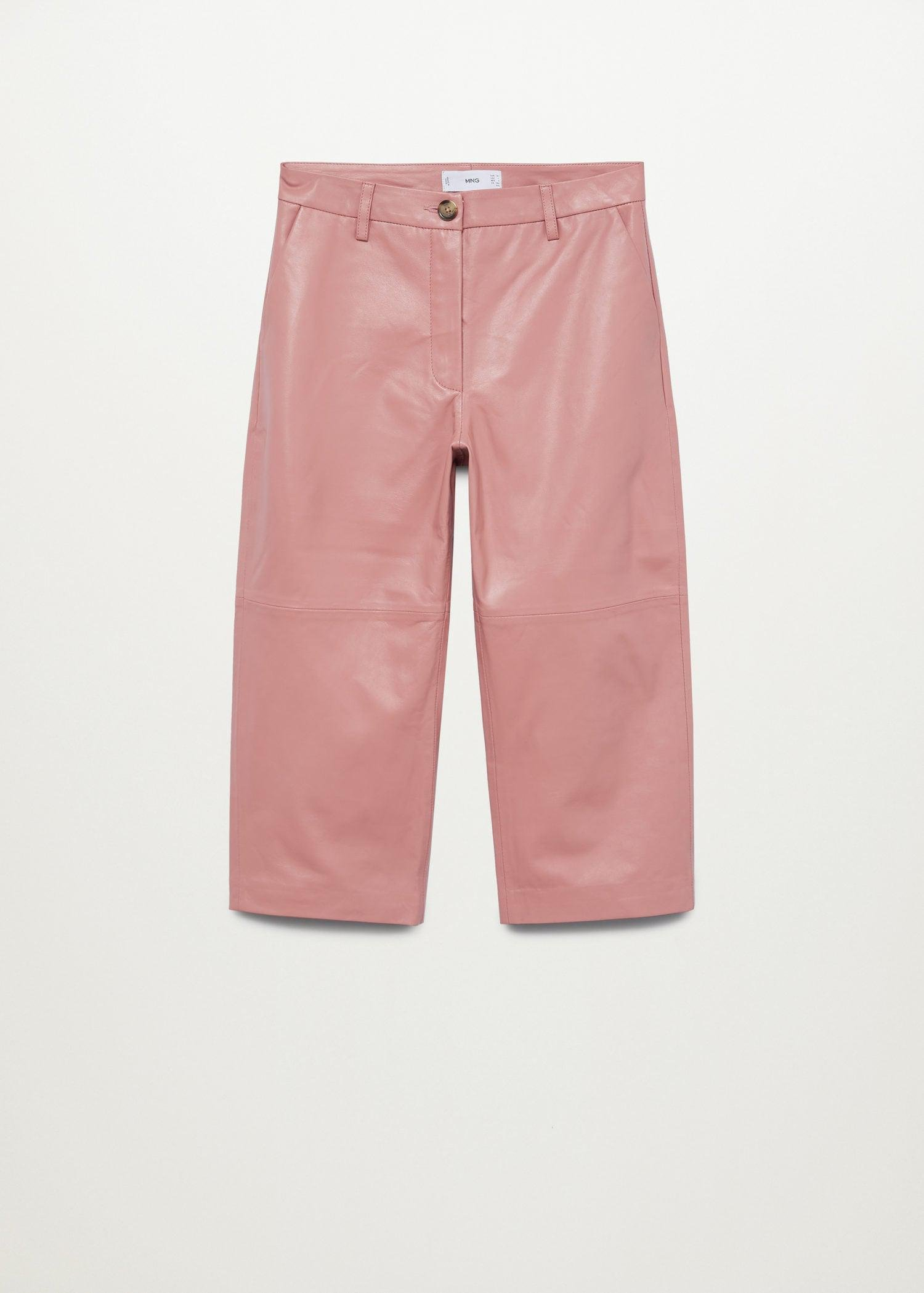 Leather culotte trouser 7