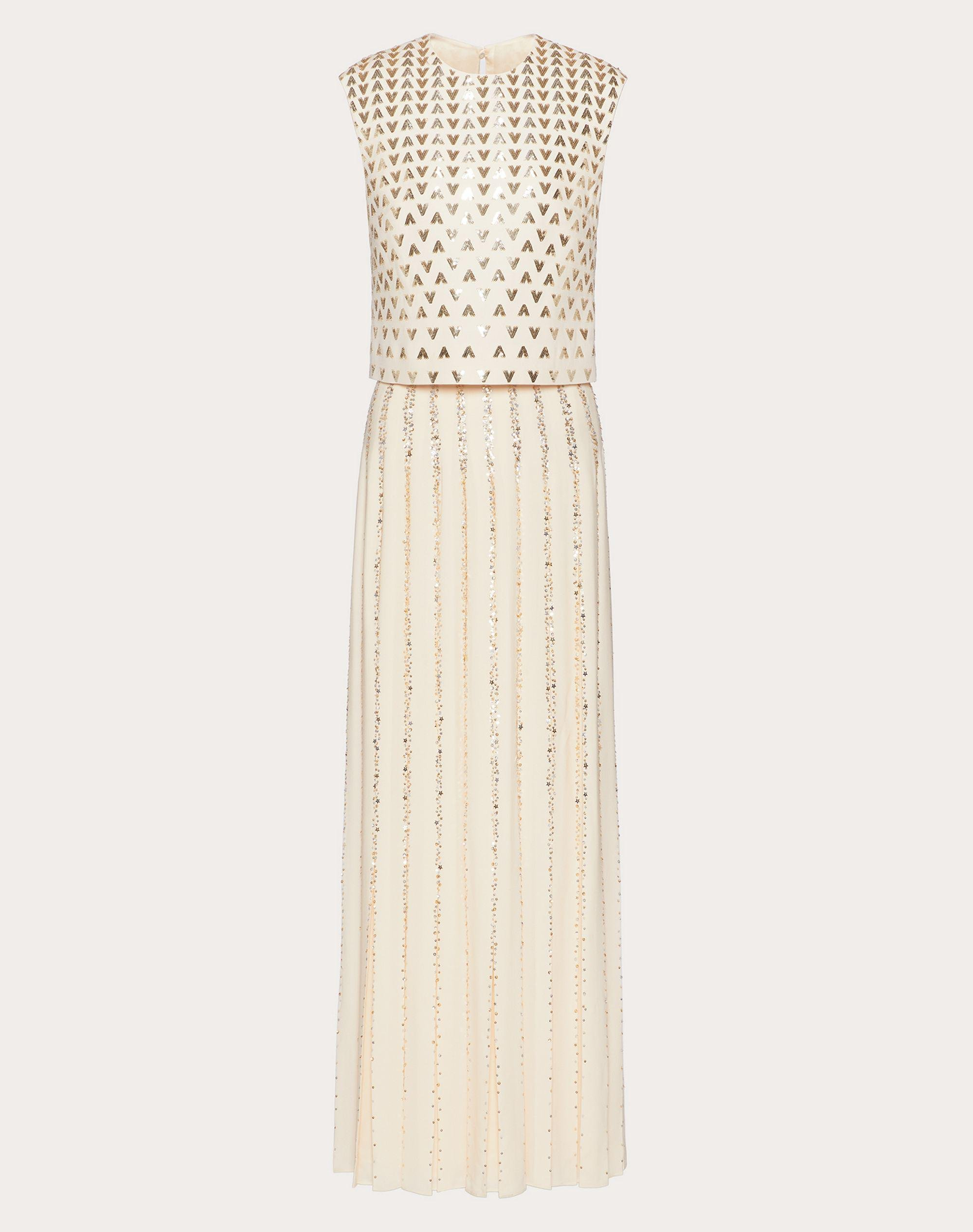 EMBROIDERED GEORGETTE EVENING DRESS 4