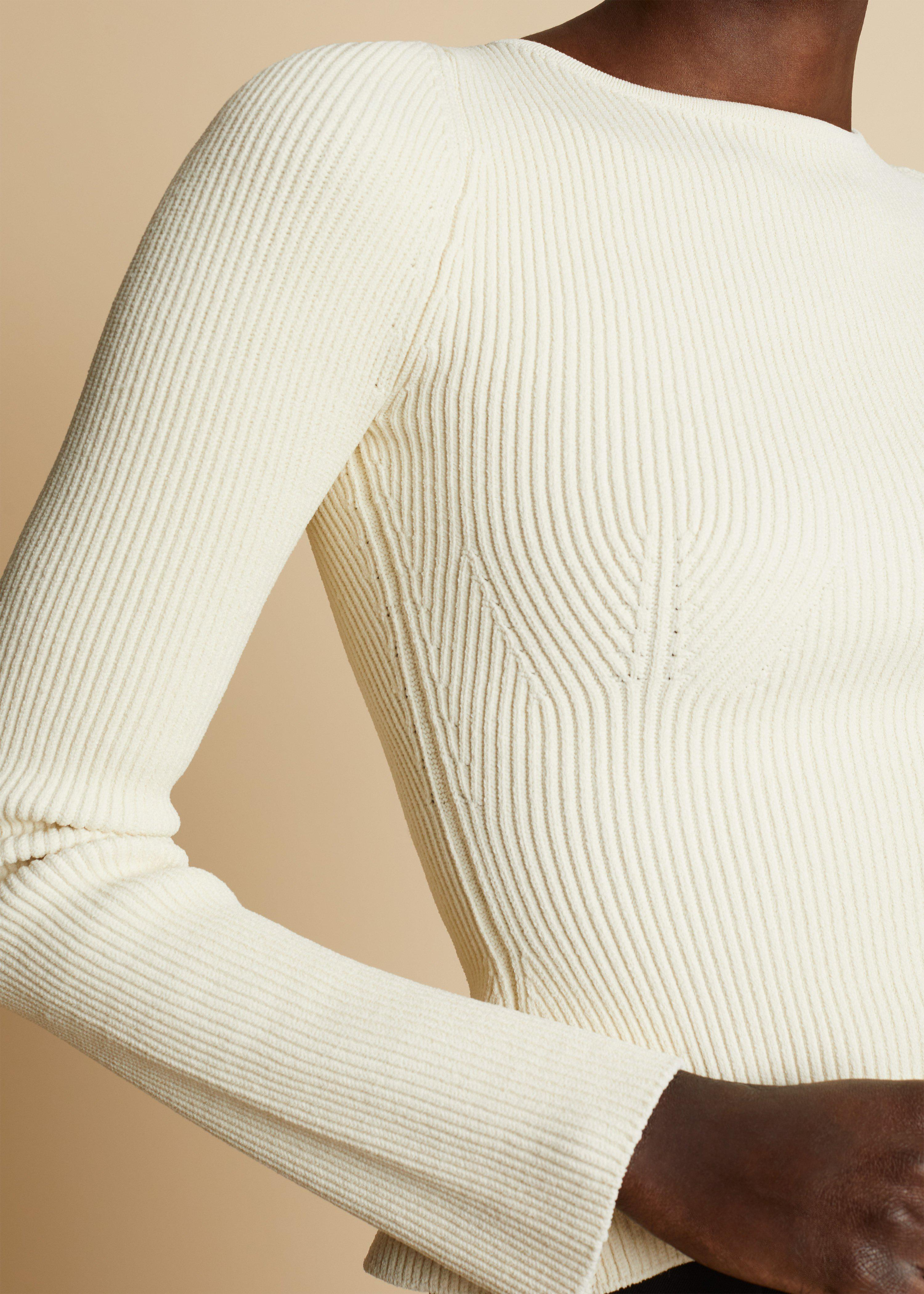 The Angelina Top in Ivory 4