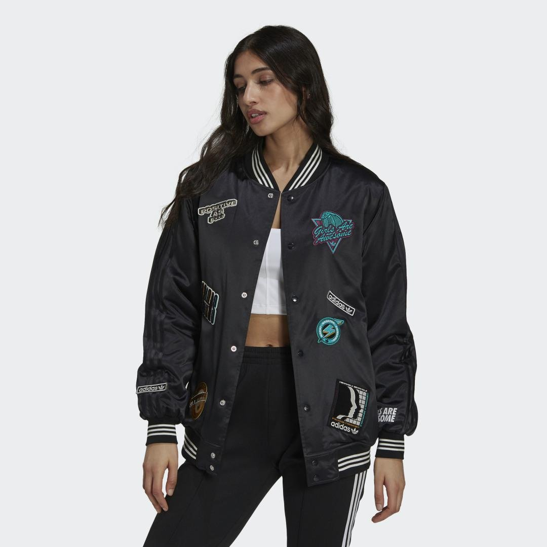 Girls Are Awesome Collegiate Jacket Black