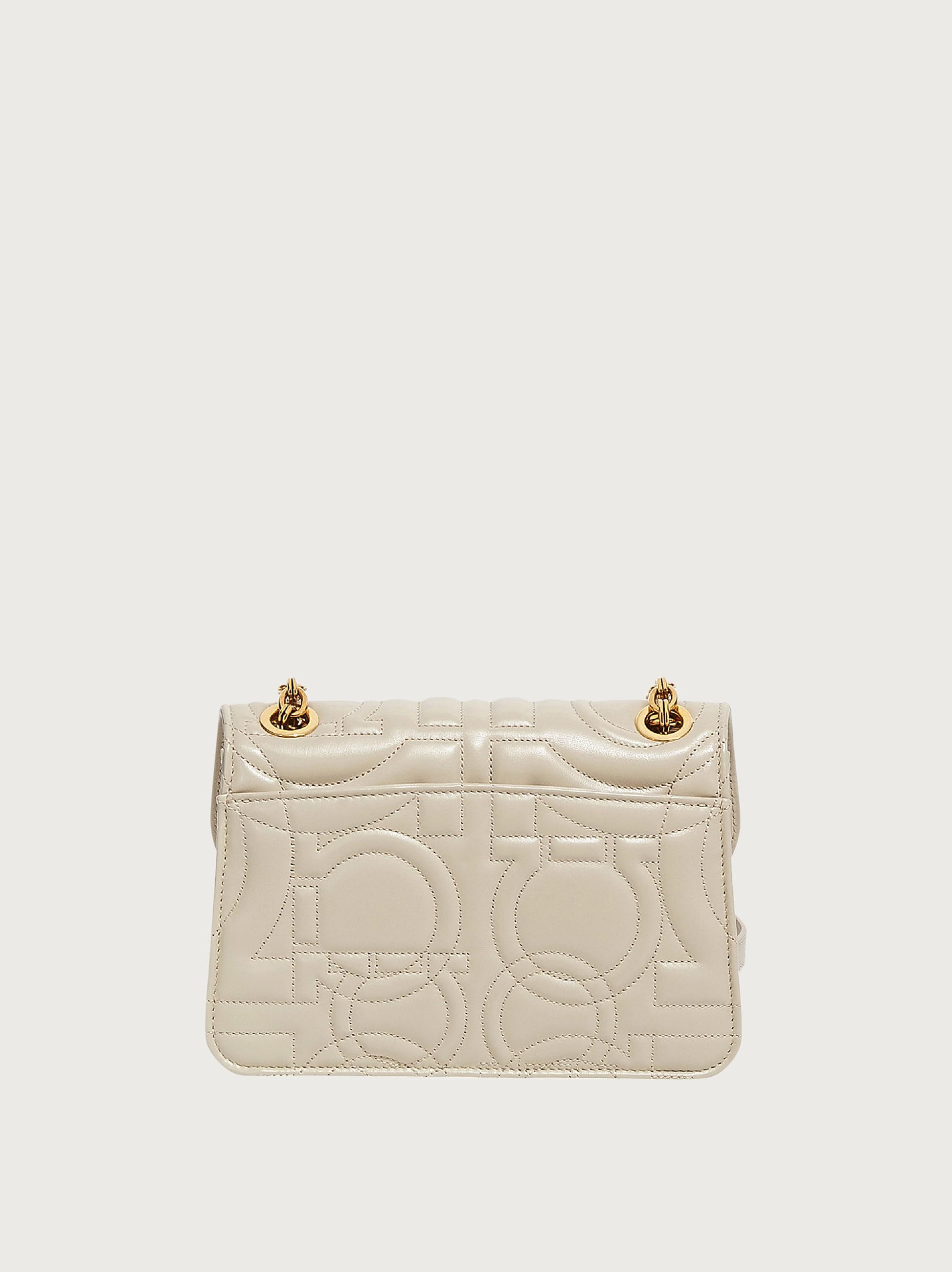 QUILTED GANCINI FLAP BAG (M) 2