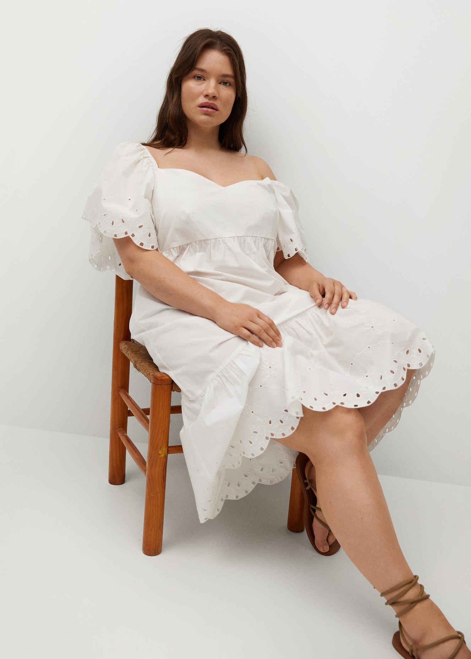 Embroidered cotton dress 4
