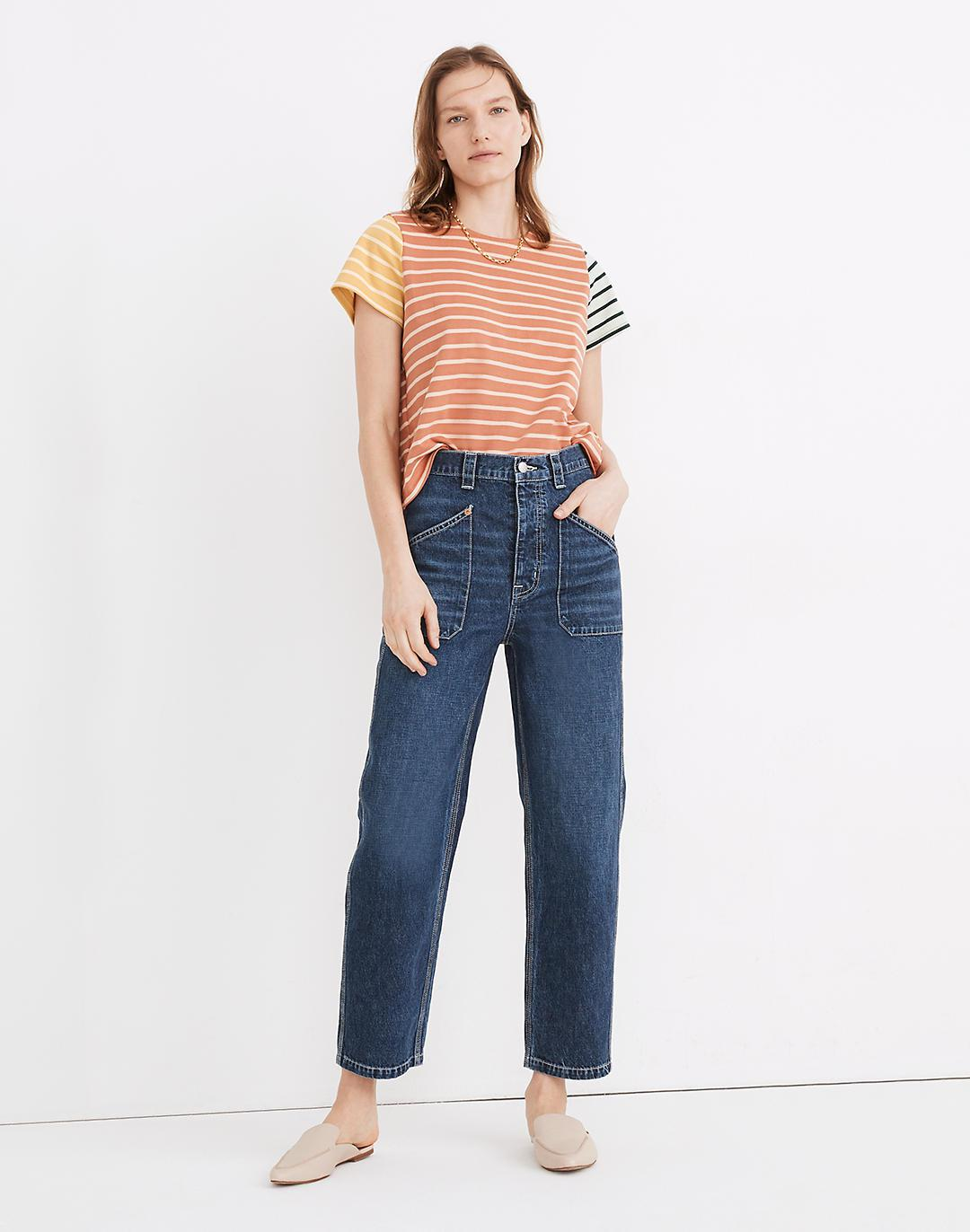 Rivet & Thread High-Rise Relaxed Straight Jeans in Fiske Wash