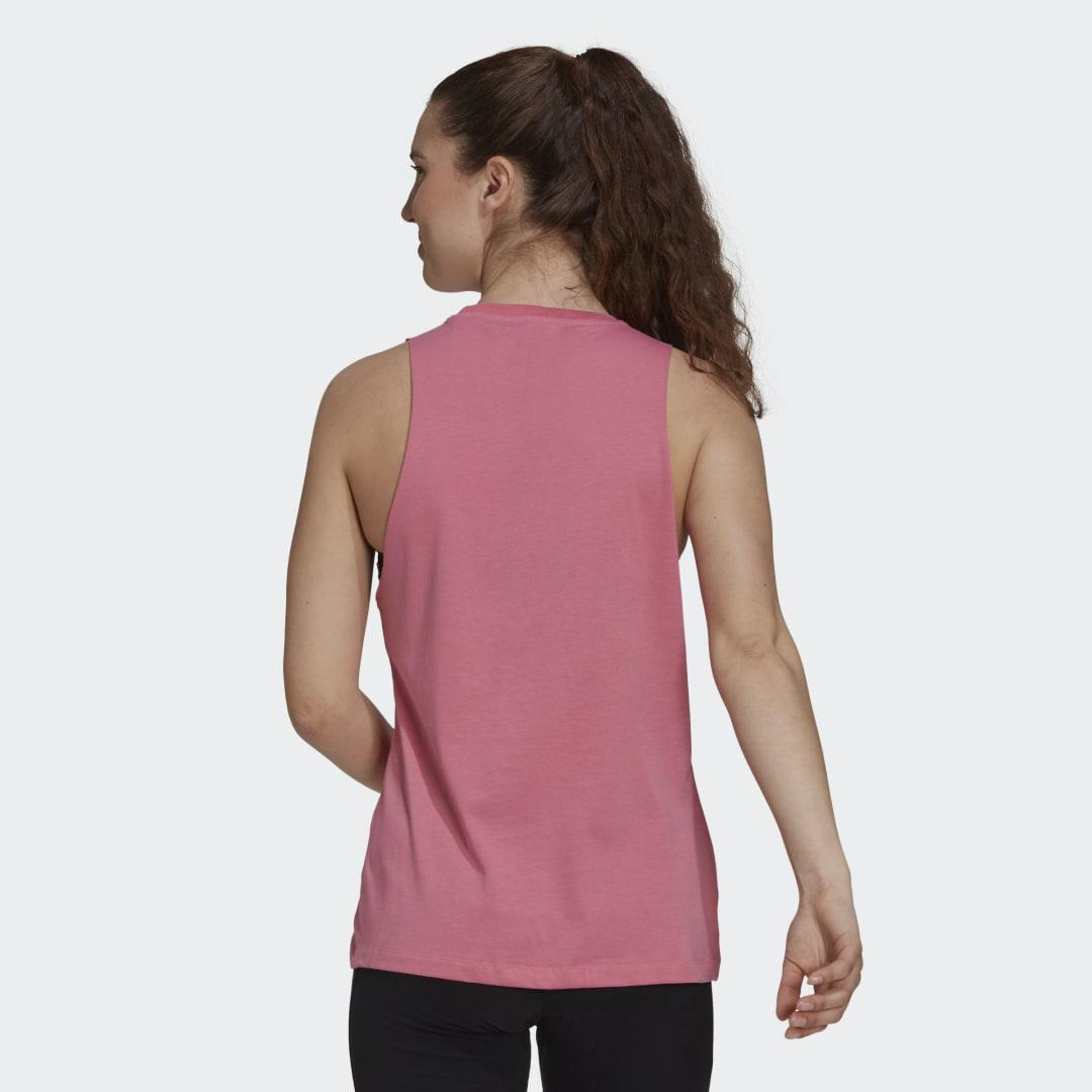 Soft Floral Box Graphic Tank Top Rose Tone 1