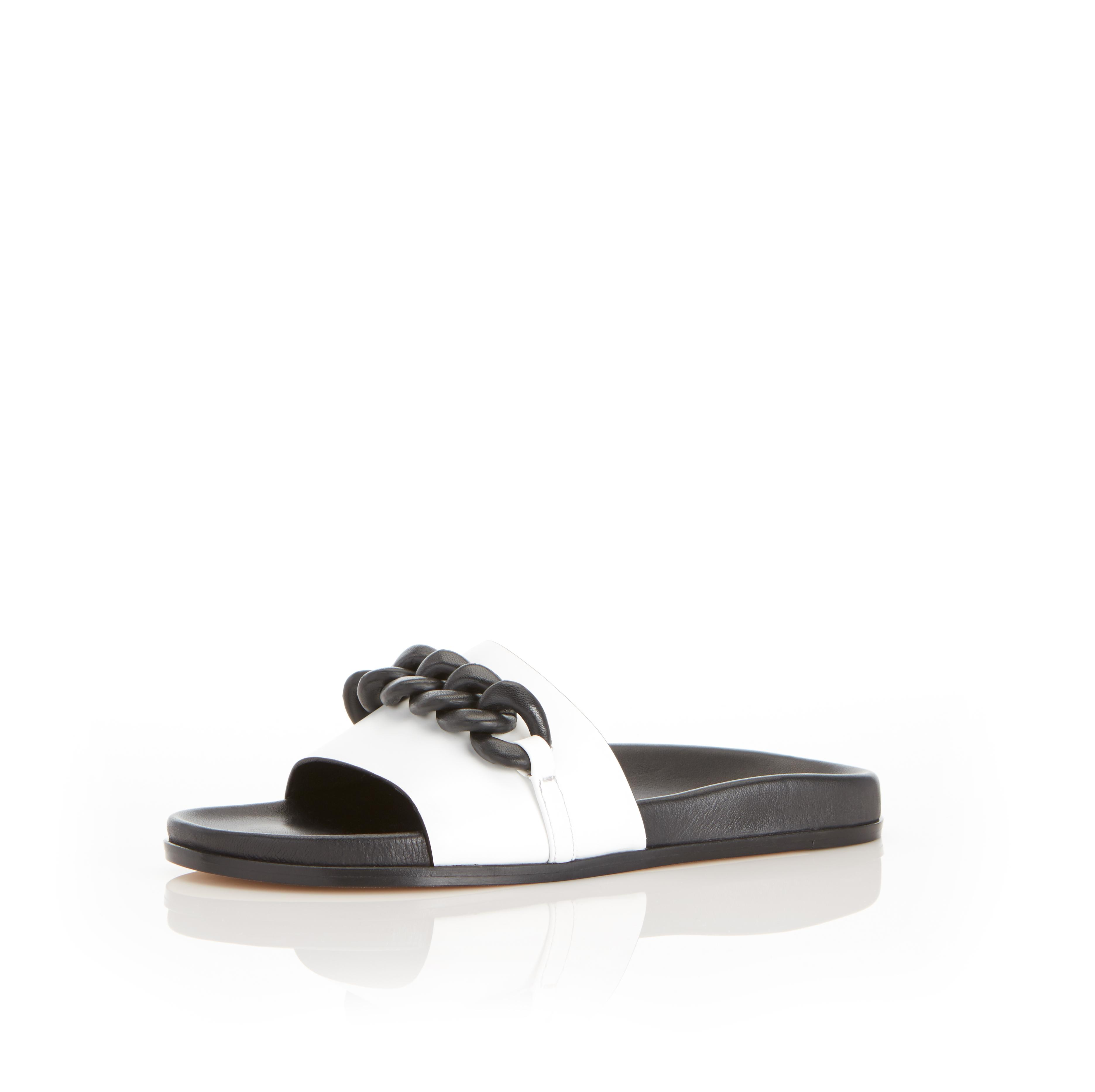 Christine | Leather Chain Sandal with Contoured Footbed 1