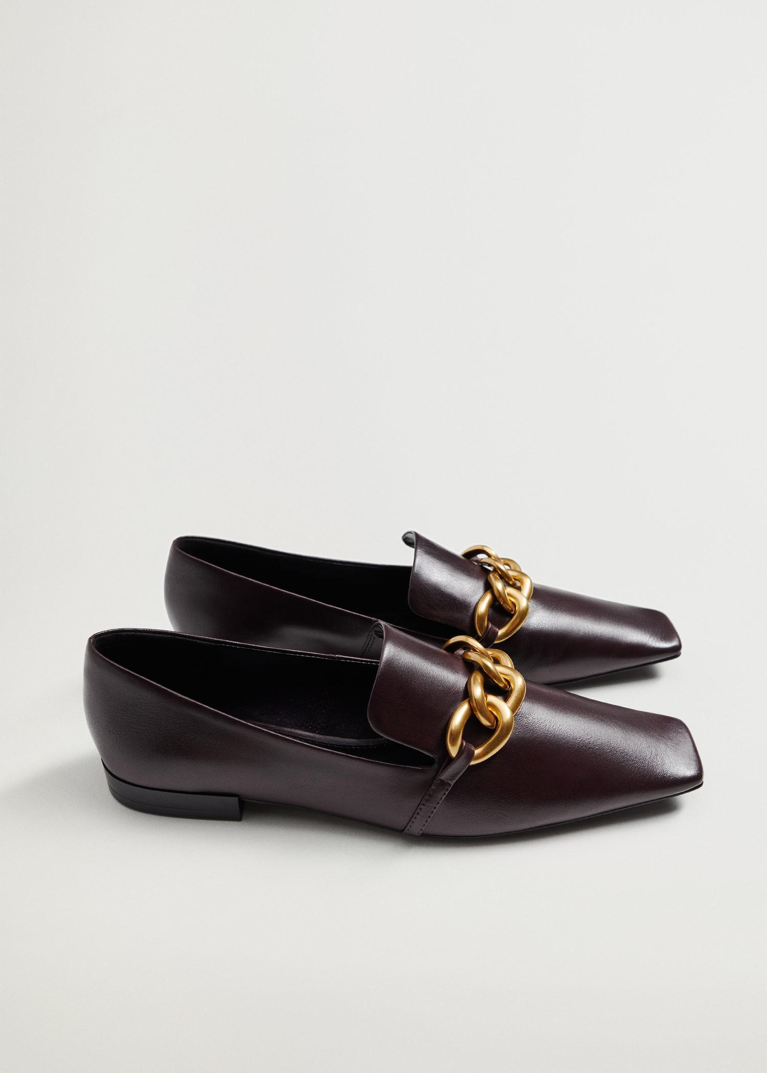 Leather loafers with chain 3