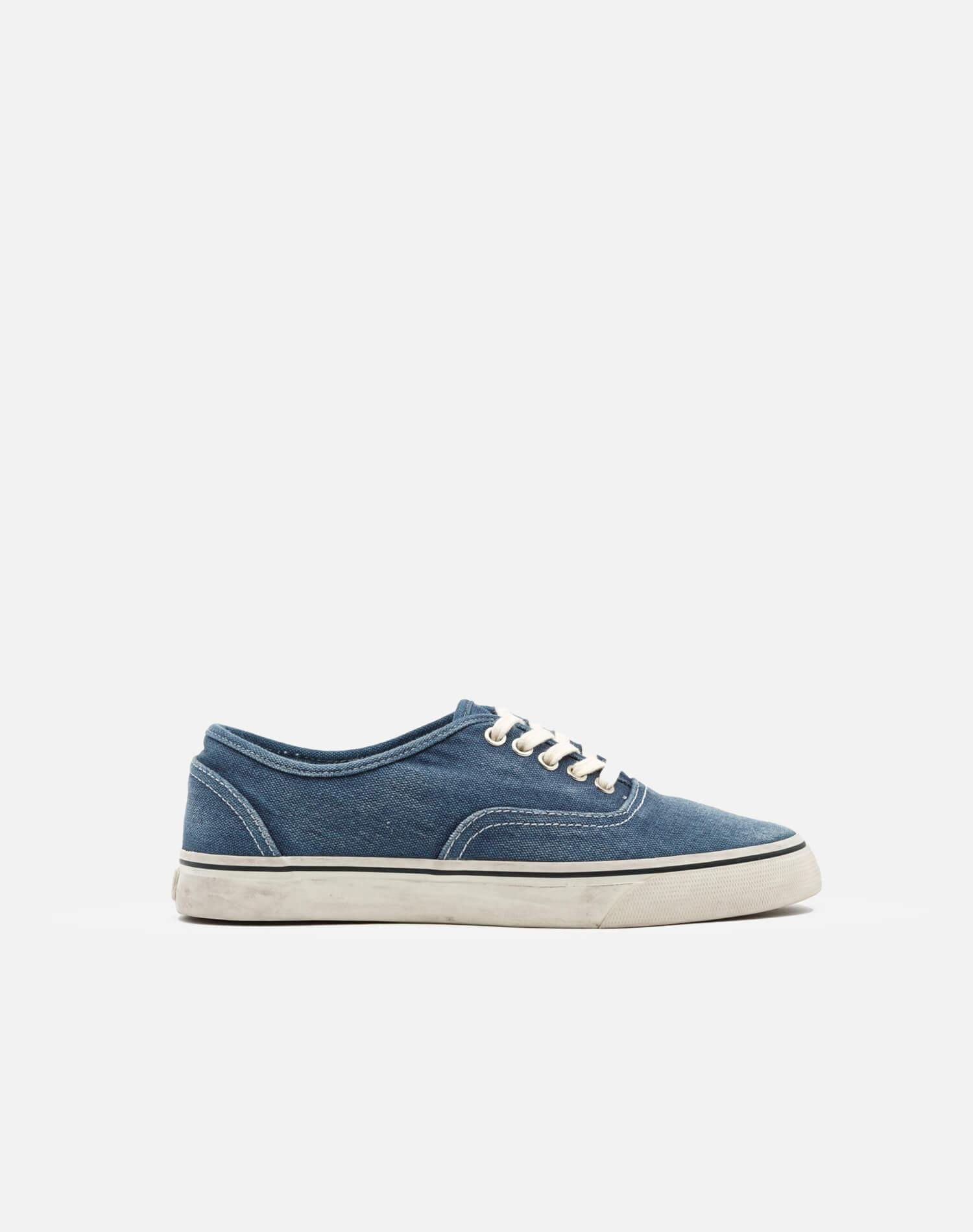 70s Low Top Skate - Faded Navy