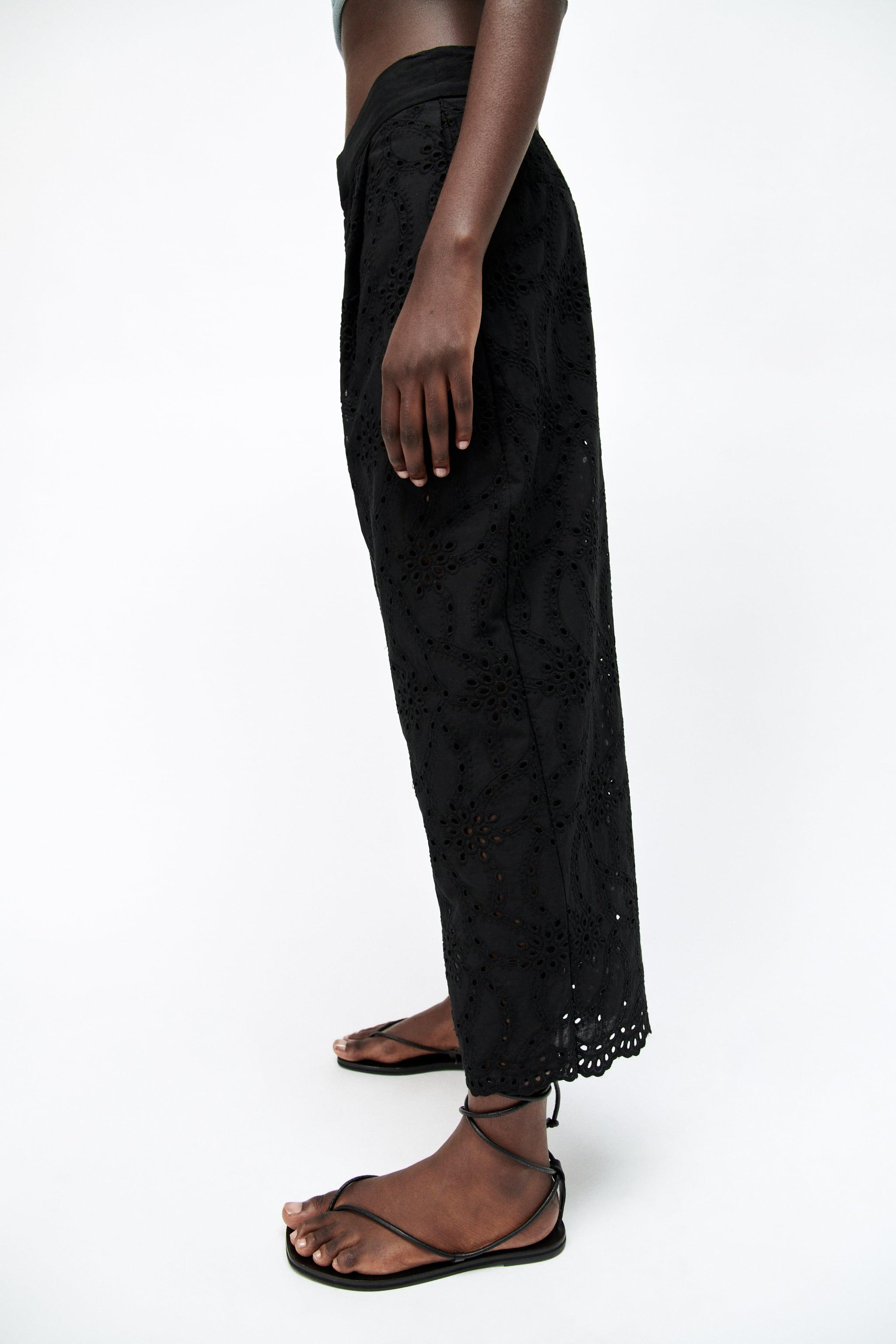 PANTS WITH OPENWORK EMBROIDERY 3