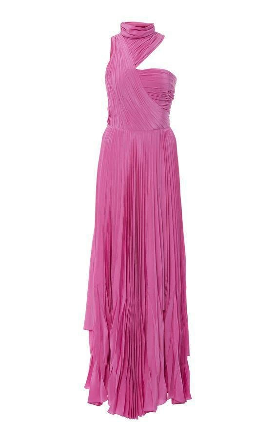 PLEATED MAXI GOWN 1
