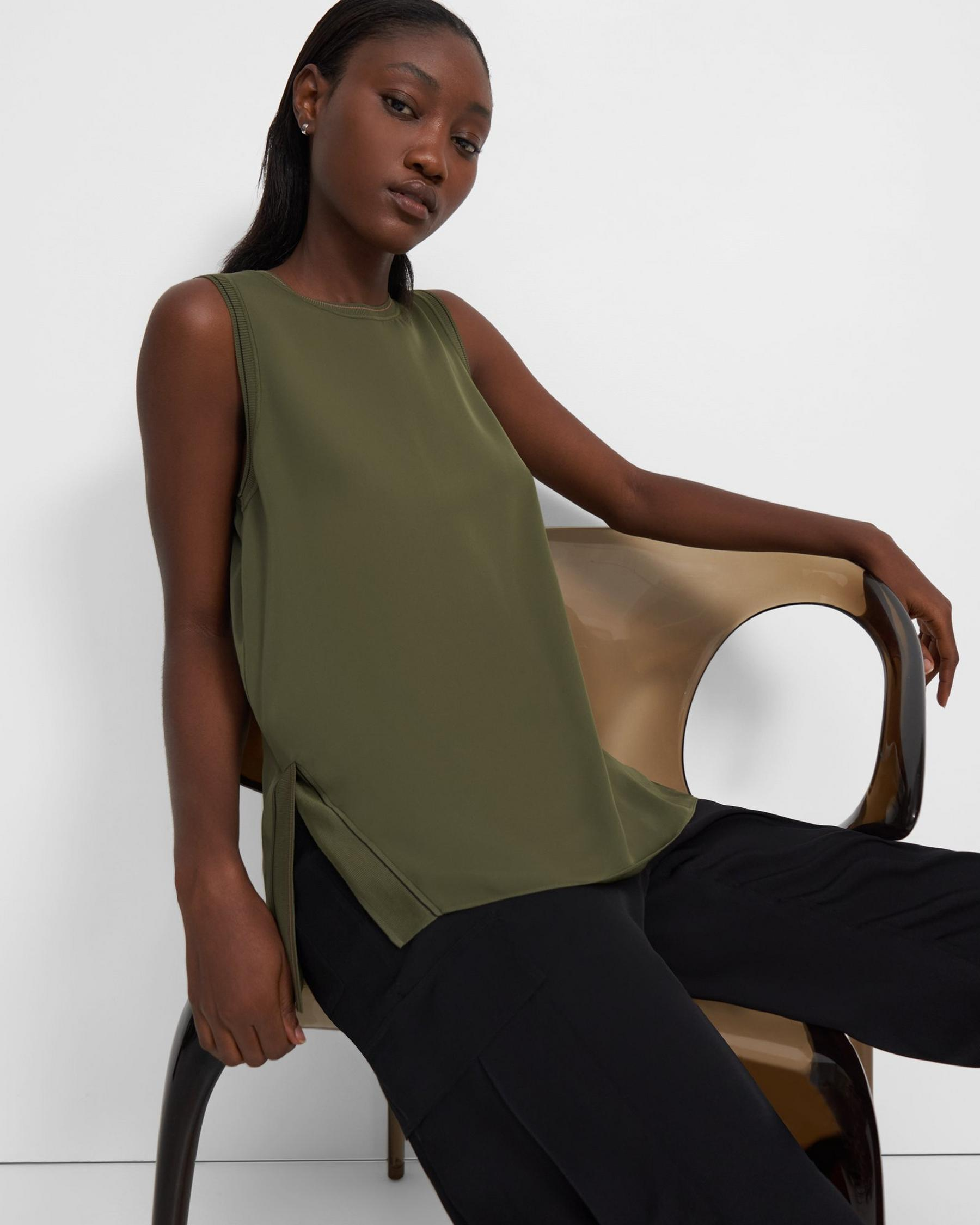Combo Shell Top in Silk 3