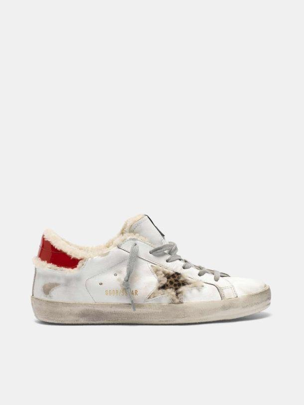 Super-Star sneakers with pony skin star and shearling insert