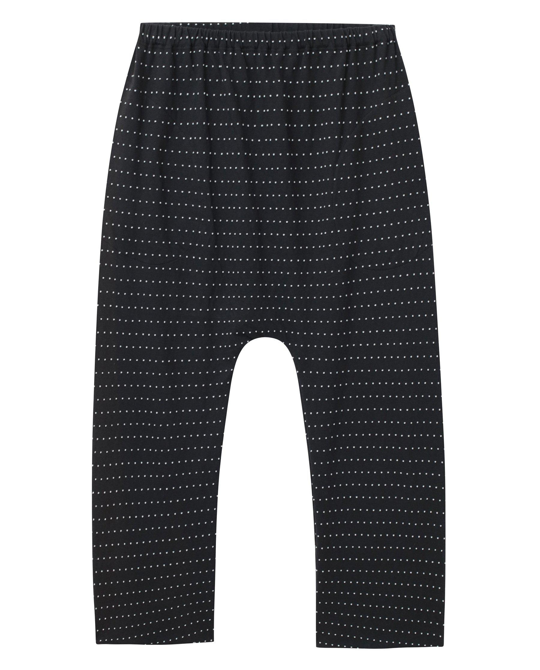 The Swiss Dot Jersey Crop. -- Almost Black 4