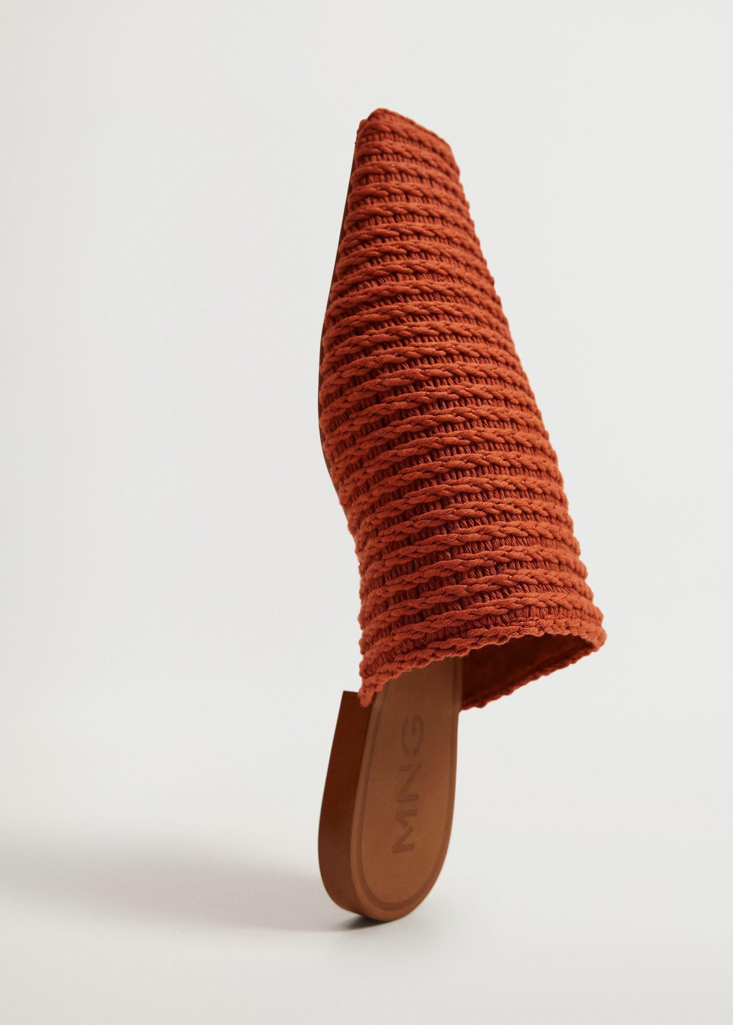 Recycled cotton braided babouche slippers 3