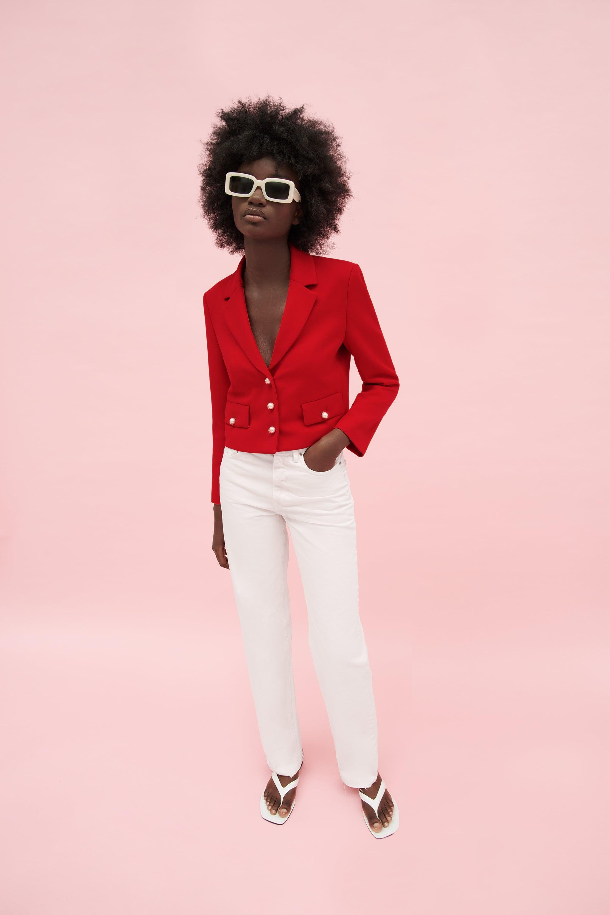 BUTTONED CROPPED BLAZER