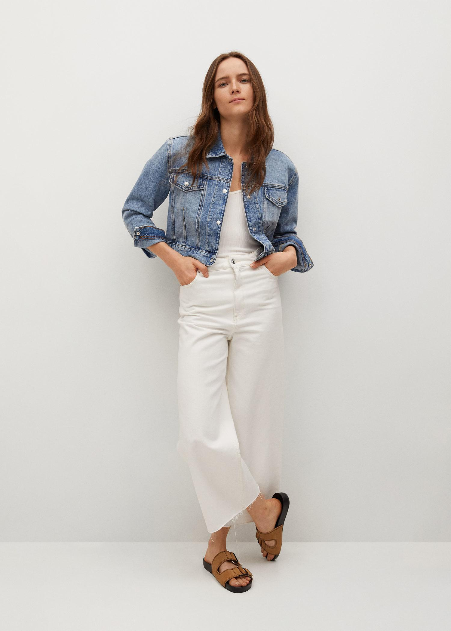Cropped jacket with shoulder pads 1