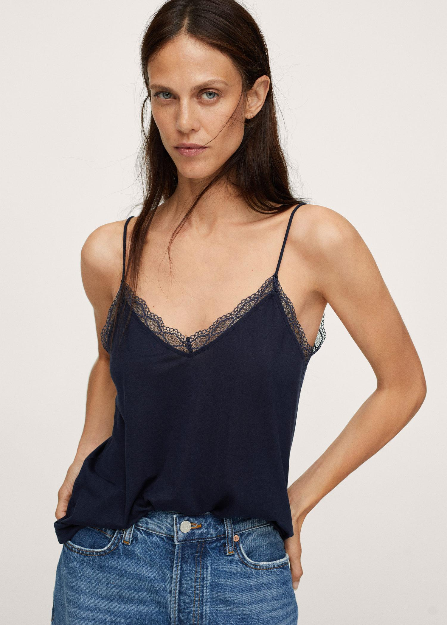 Lyocell lace top