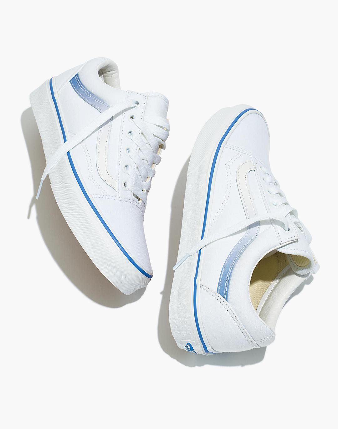 Madewell x Vans® Unisex Old Skool Lace-Up Sneakers in Ombre Stripe Canvas