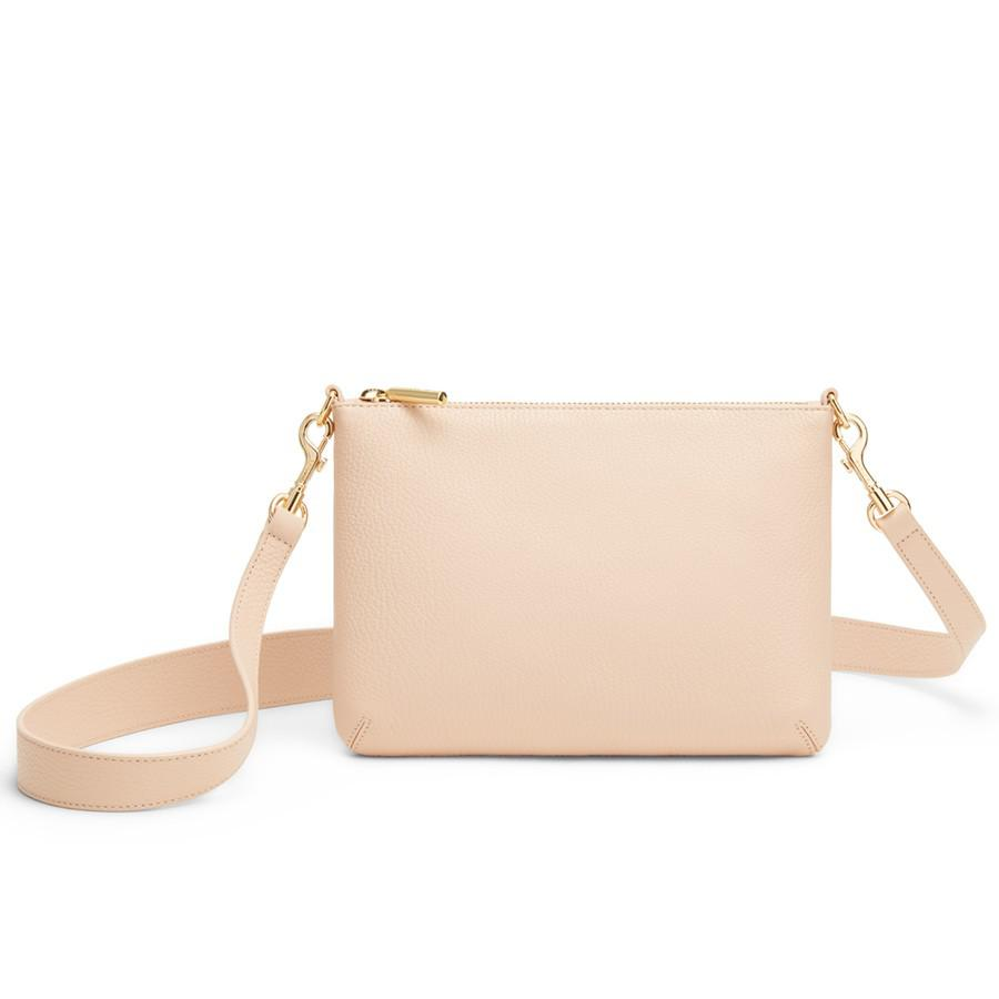 Women's Curved Crossbody Bag in Blush Pink | Pebbled Leather by Cuyana