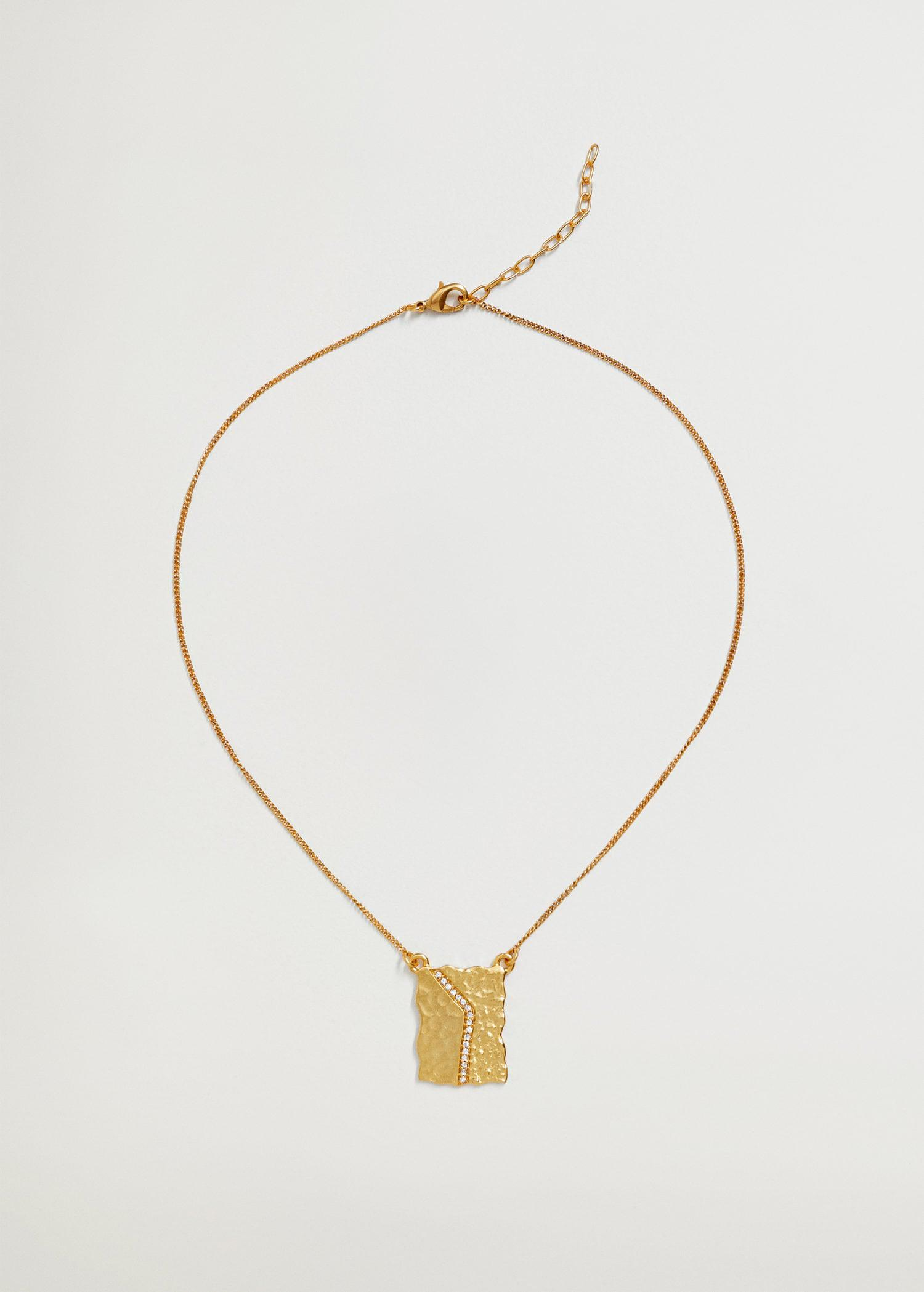 Embossed necklace