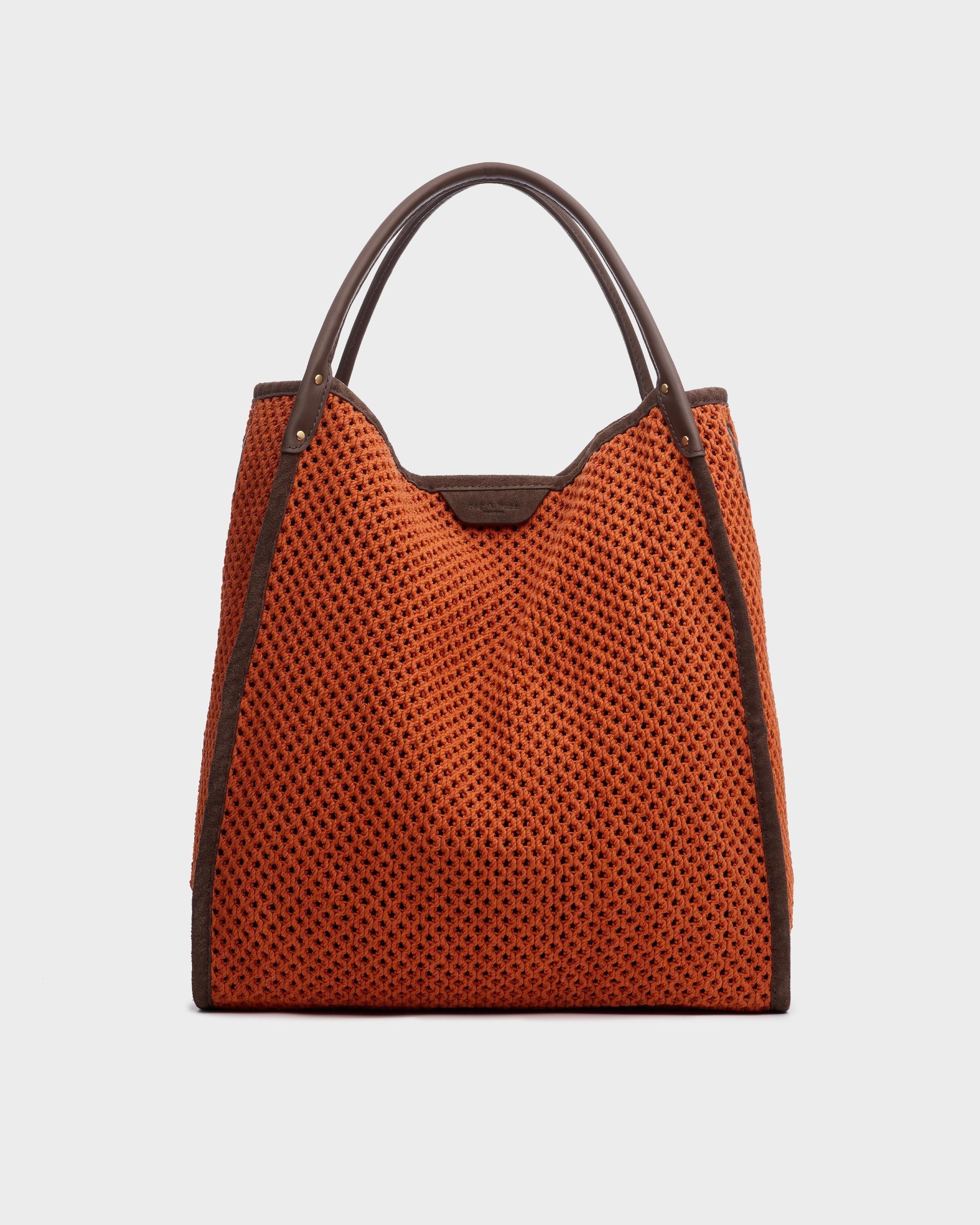 Summer passenger tote - leather and recycled materials
