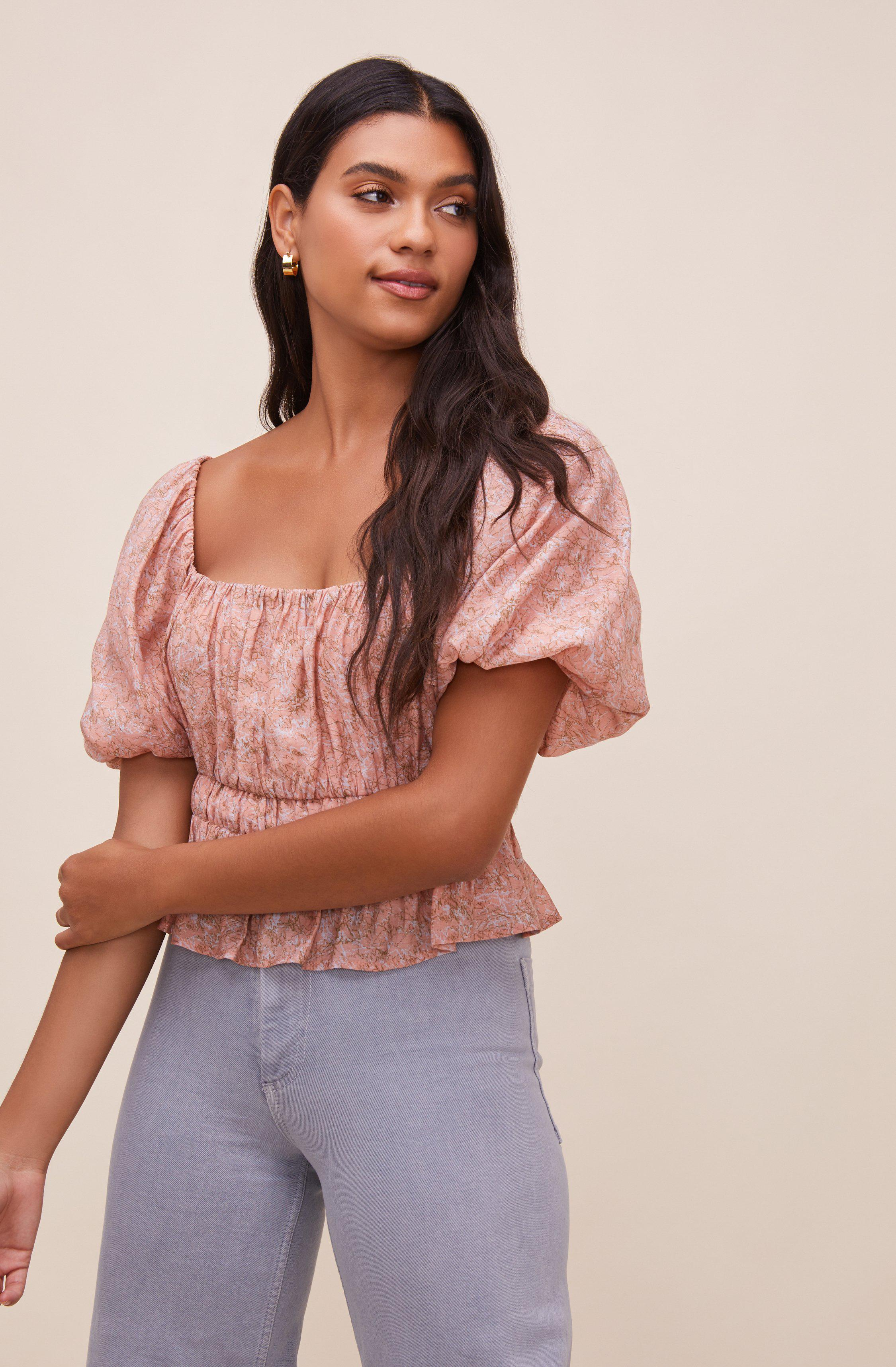 Theron Bubble Sleeve Top