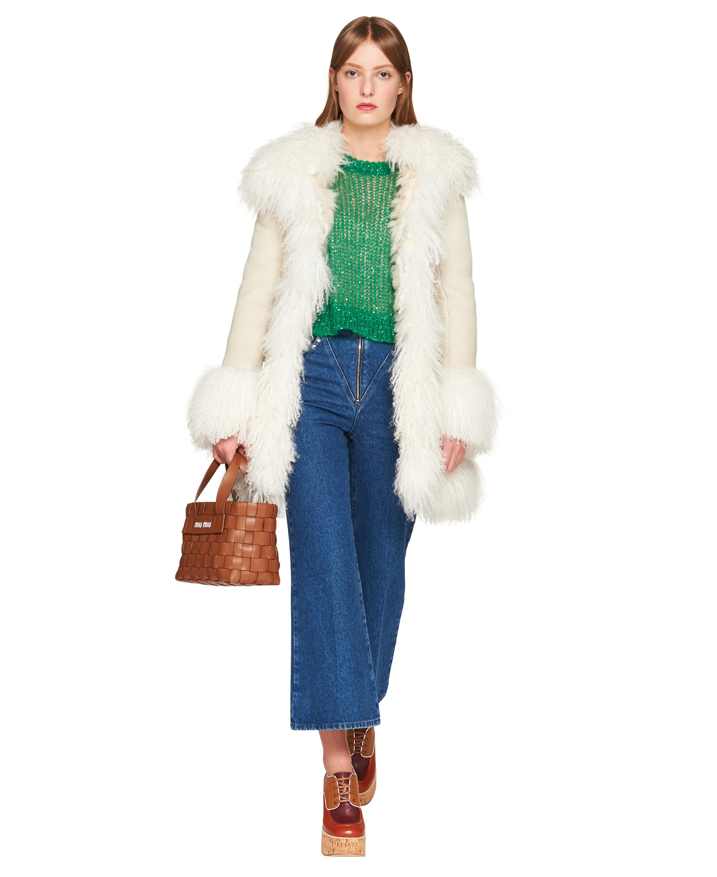 Sequined Mohair Pullover Women Lawn Green 1
