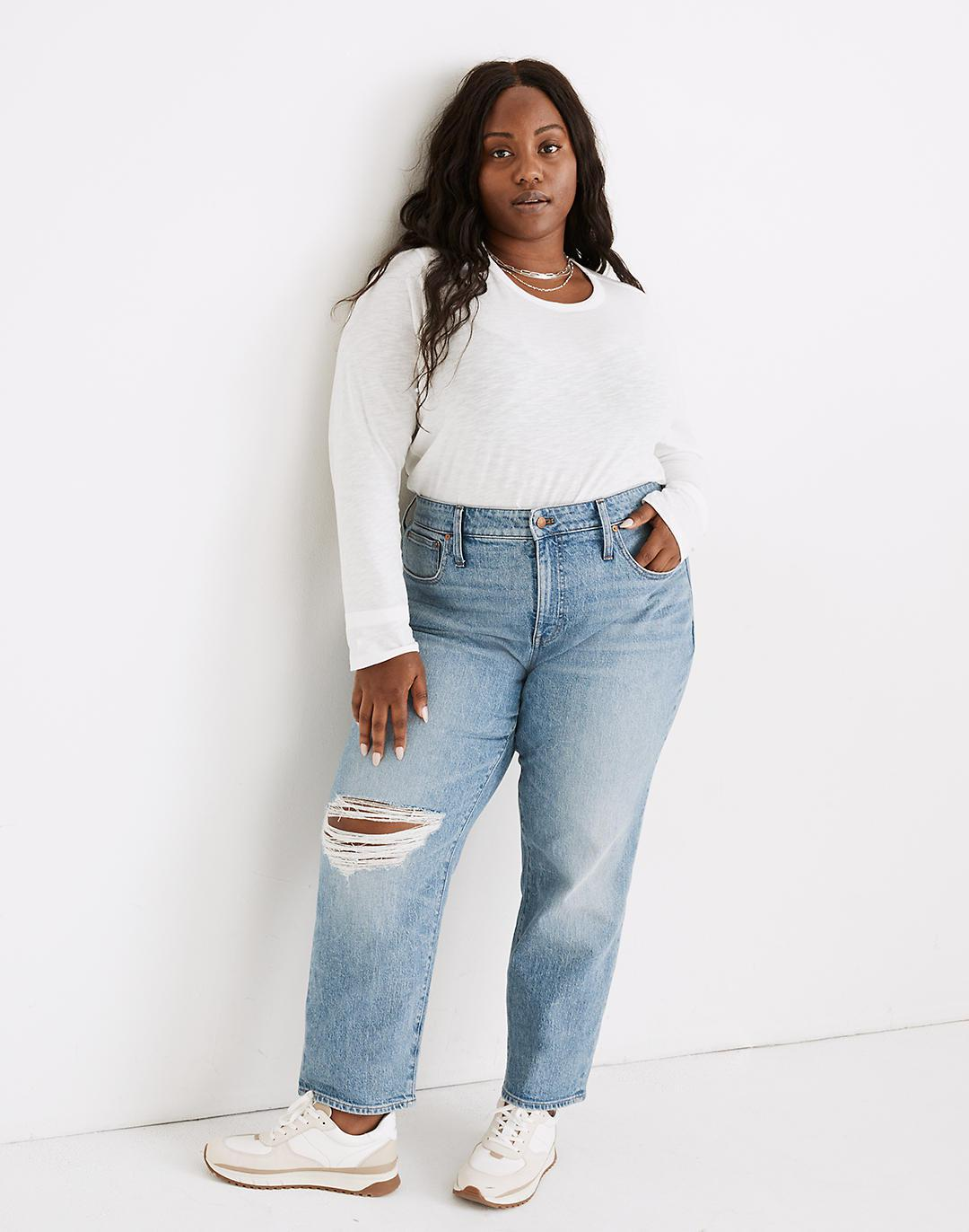 The Plus Perfect Vintage Straight Jean in Reinhart Wash