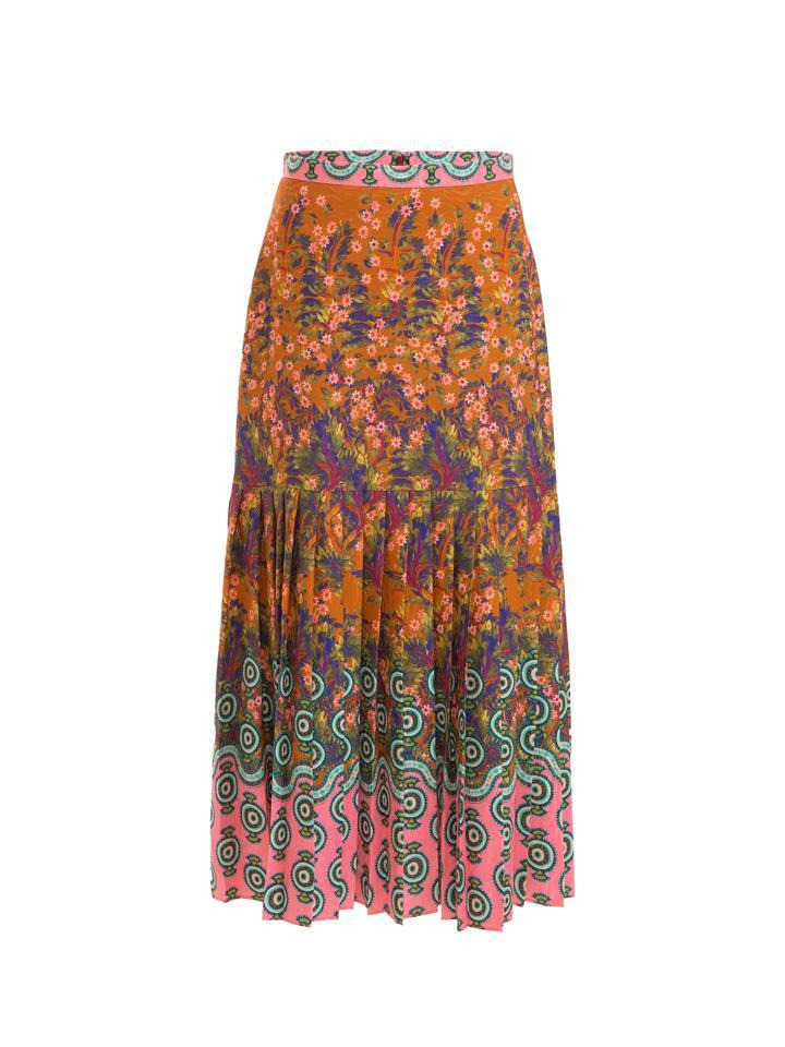 Diana E Skirt in Forest Jewel print 4