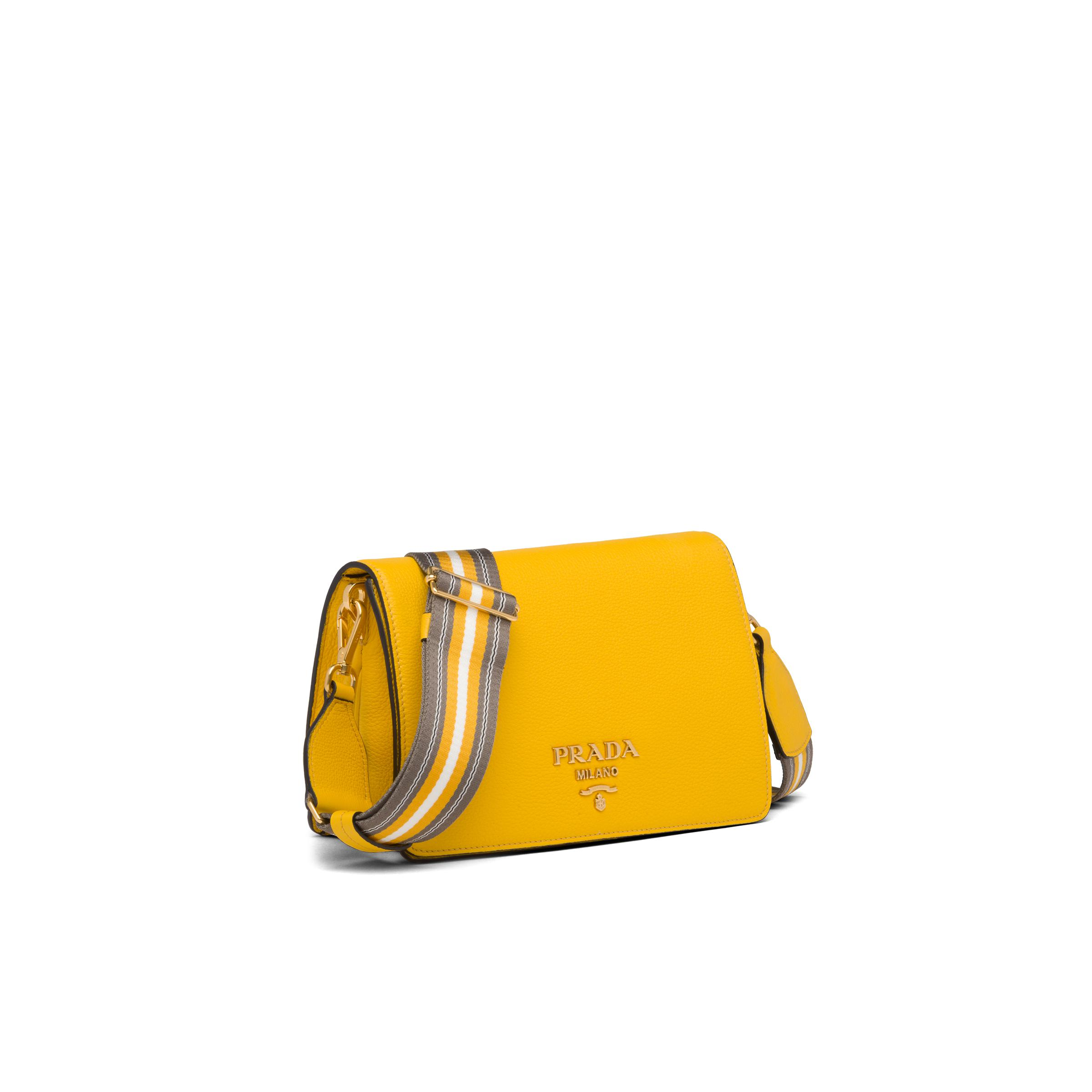 Leather Shoulder Bag Women Sunny Yellow 2