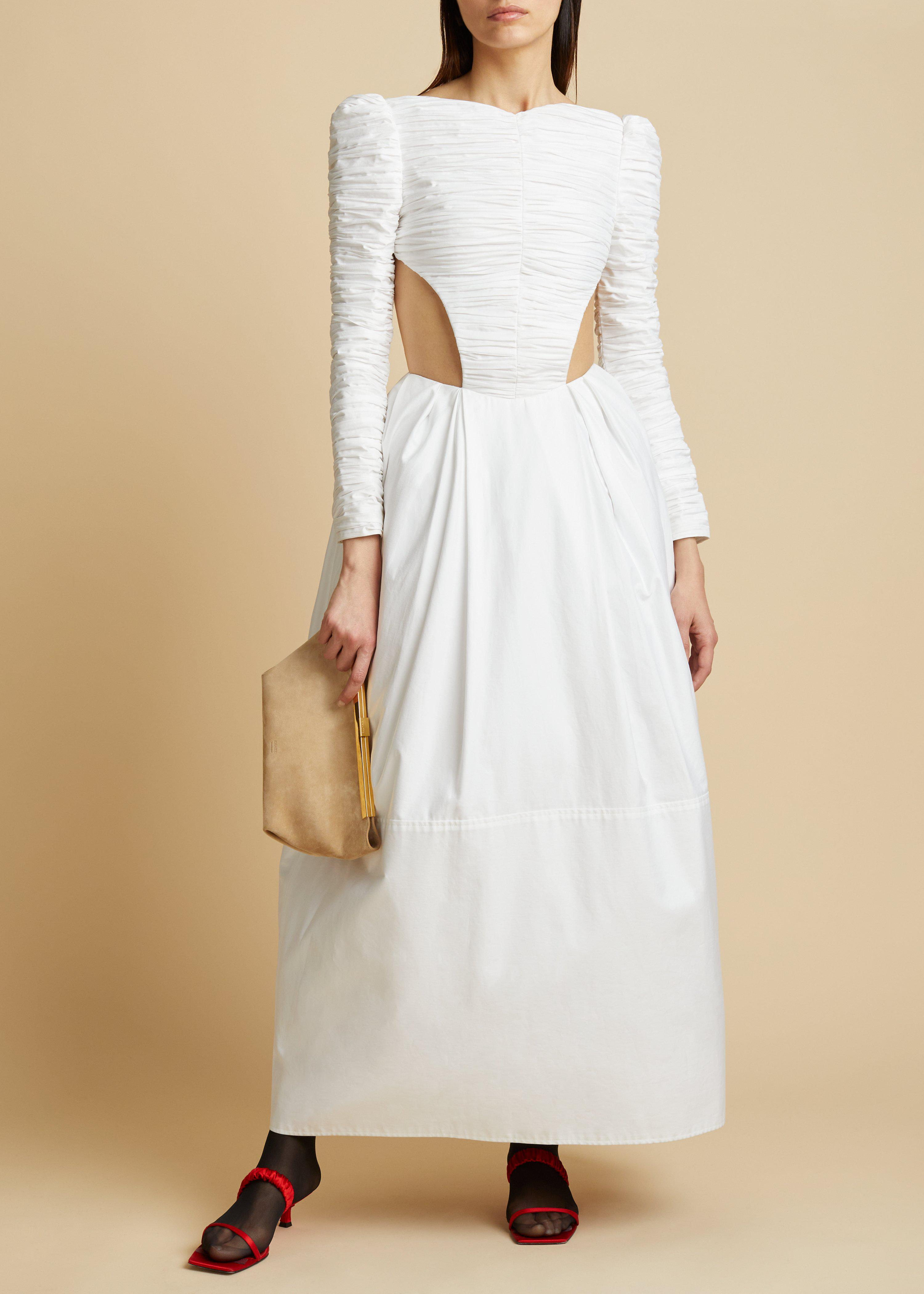 The Rosaline Dress with Petticoat in White
