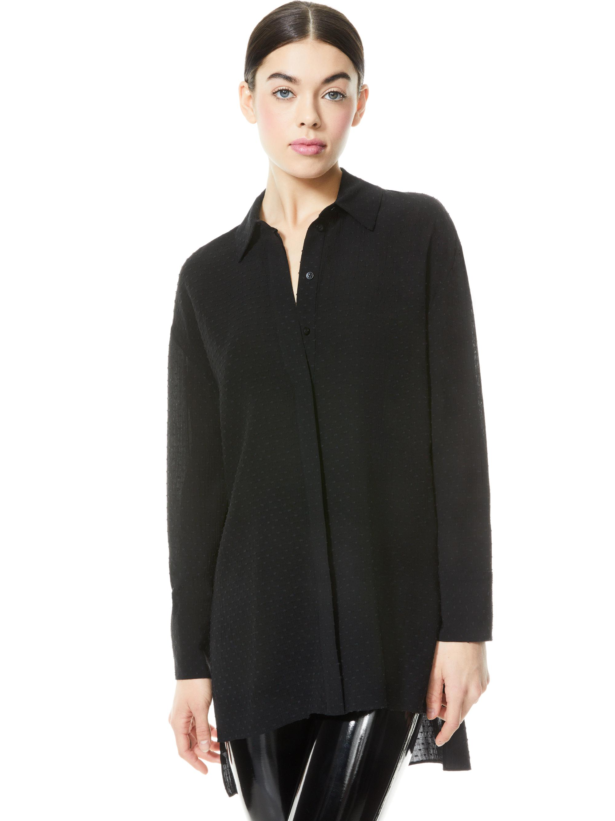 DIMITRA HIGH LOW BUTTON DOWN