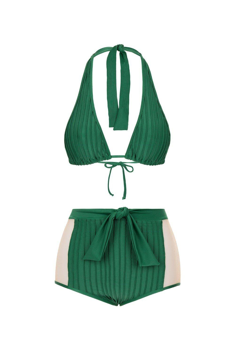 Fiore Solid Hot Pants Bikini with Tulle 2