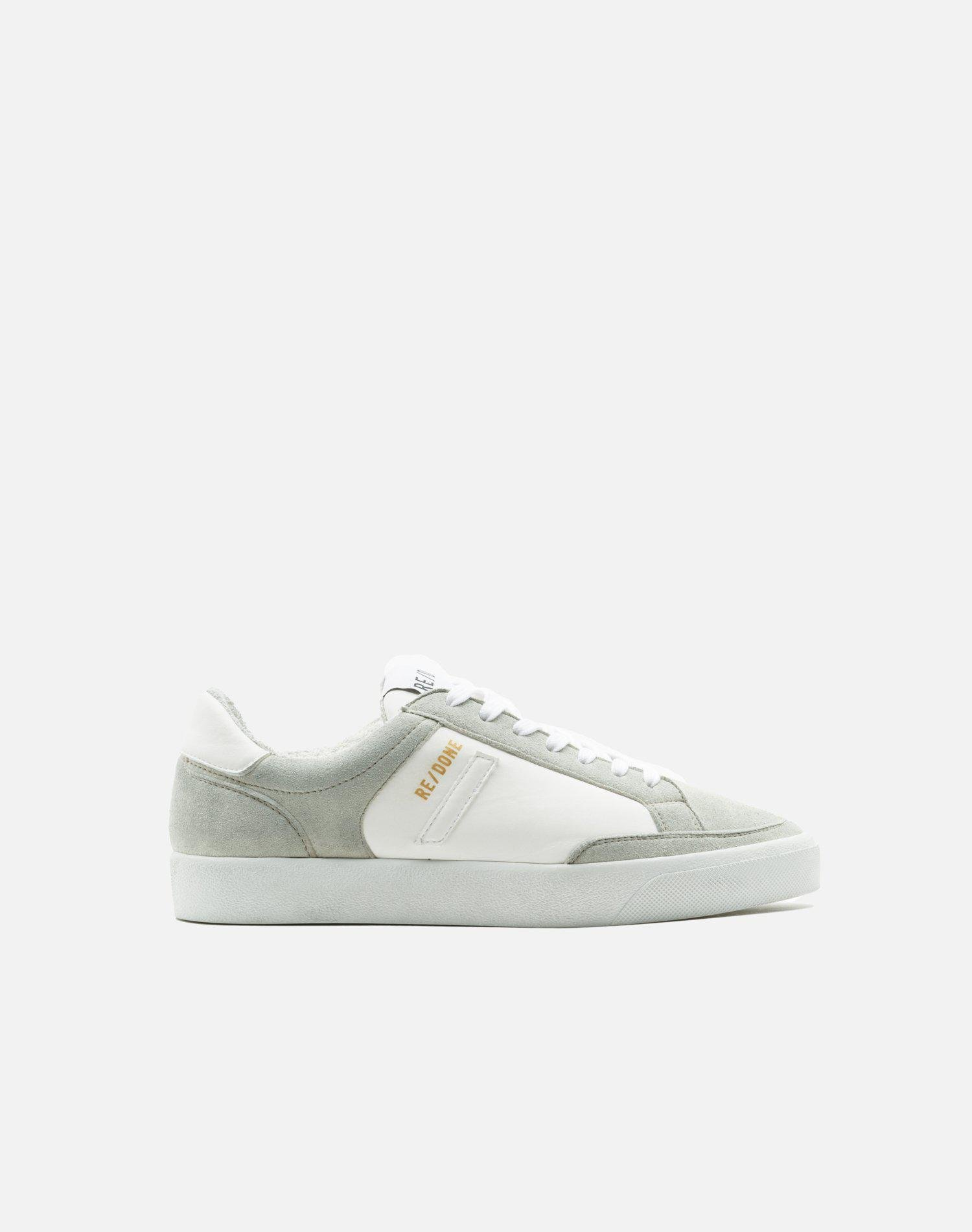 90s Sustainable Skate Shoe - White and White