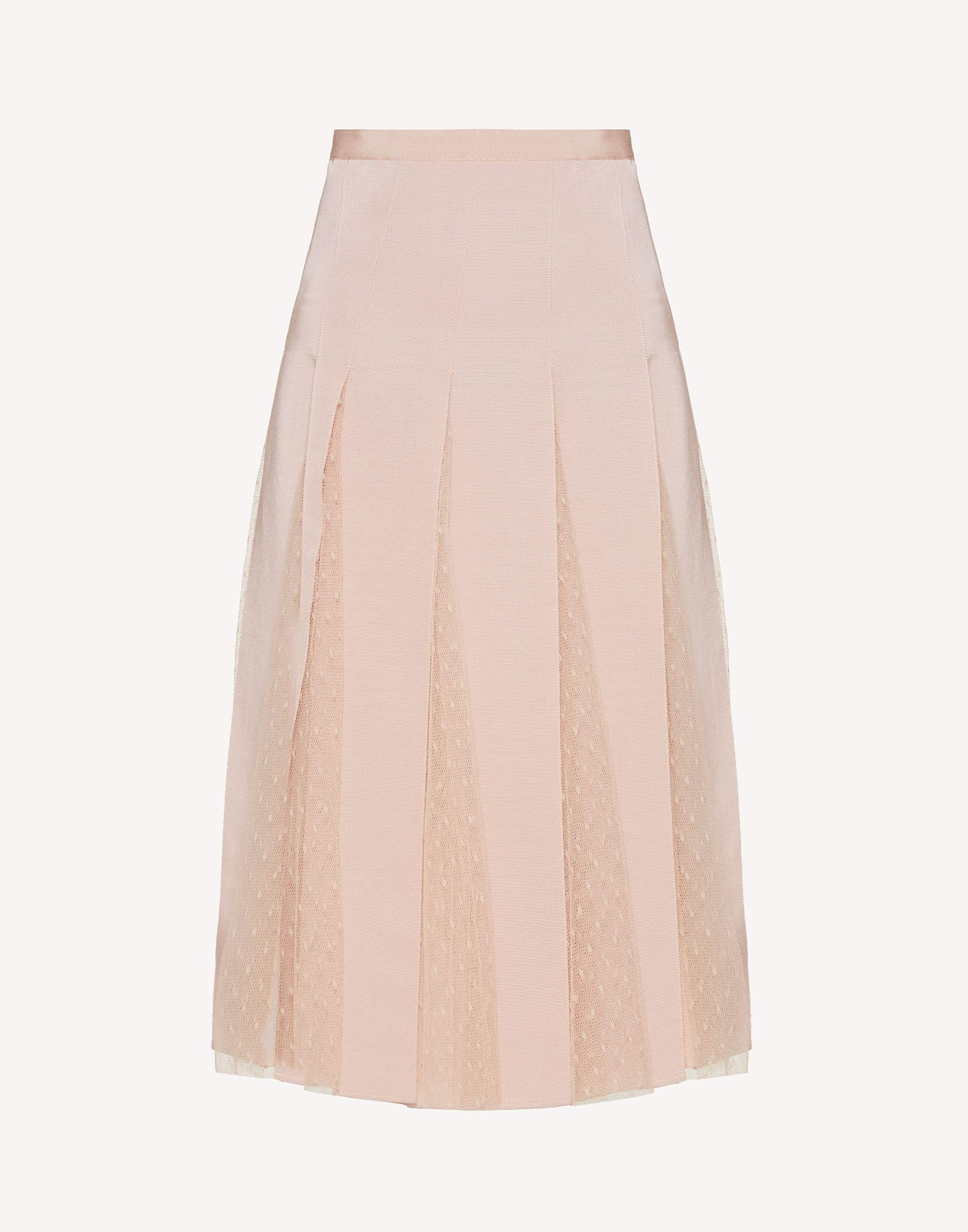POINT D'ESPRIT TULLE SKIRT WITH GROSGRAIN RIBBONS 4