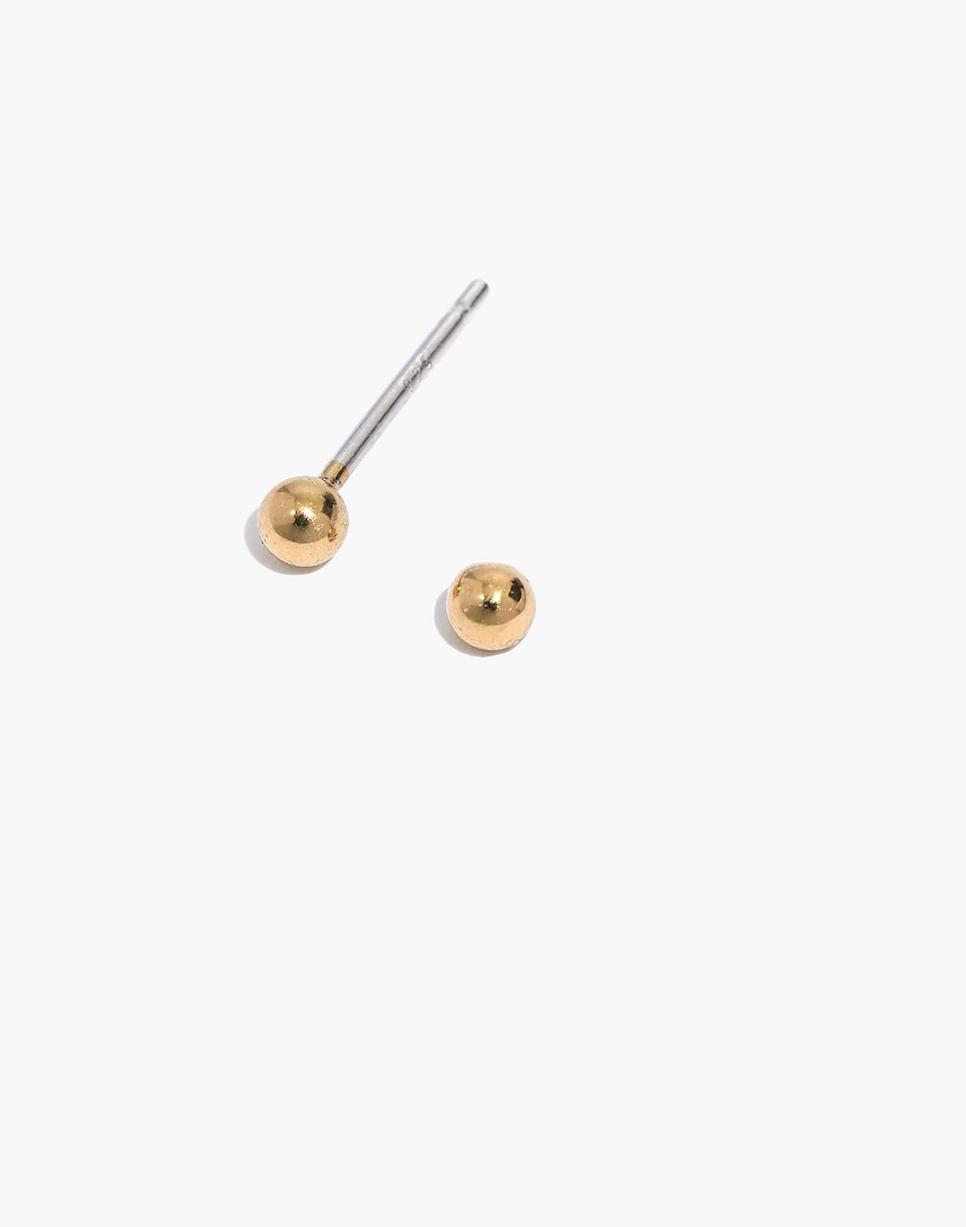 Delicate Collection Demi-Fine Ball Stud Earrings