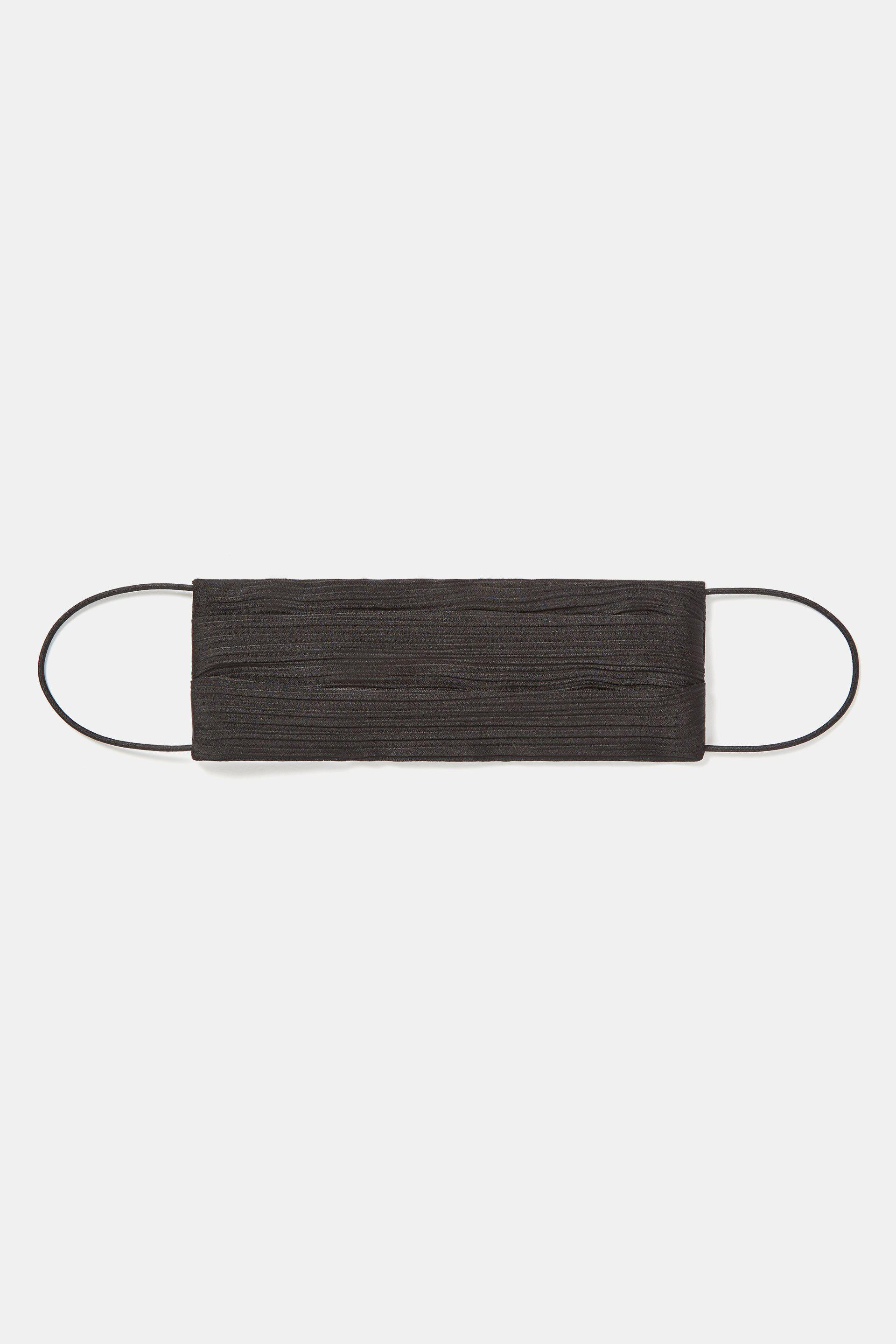 Face Mask With Elastic - Black
