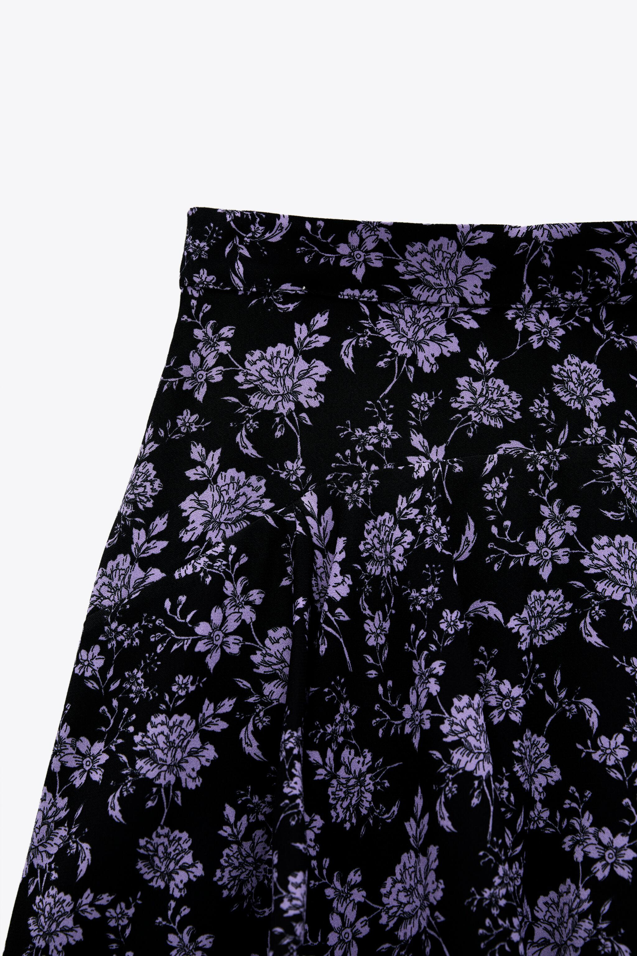 PRINT PANTS WITH SKIRT FRONT 6