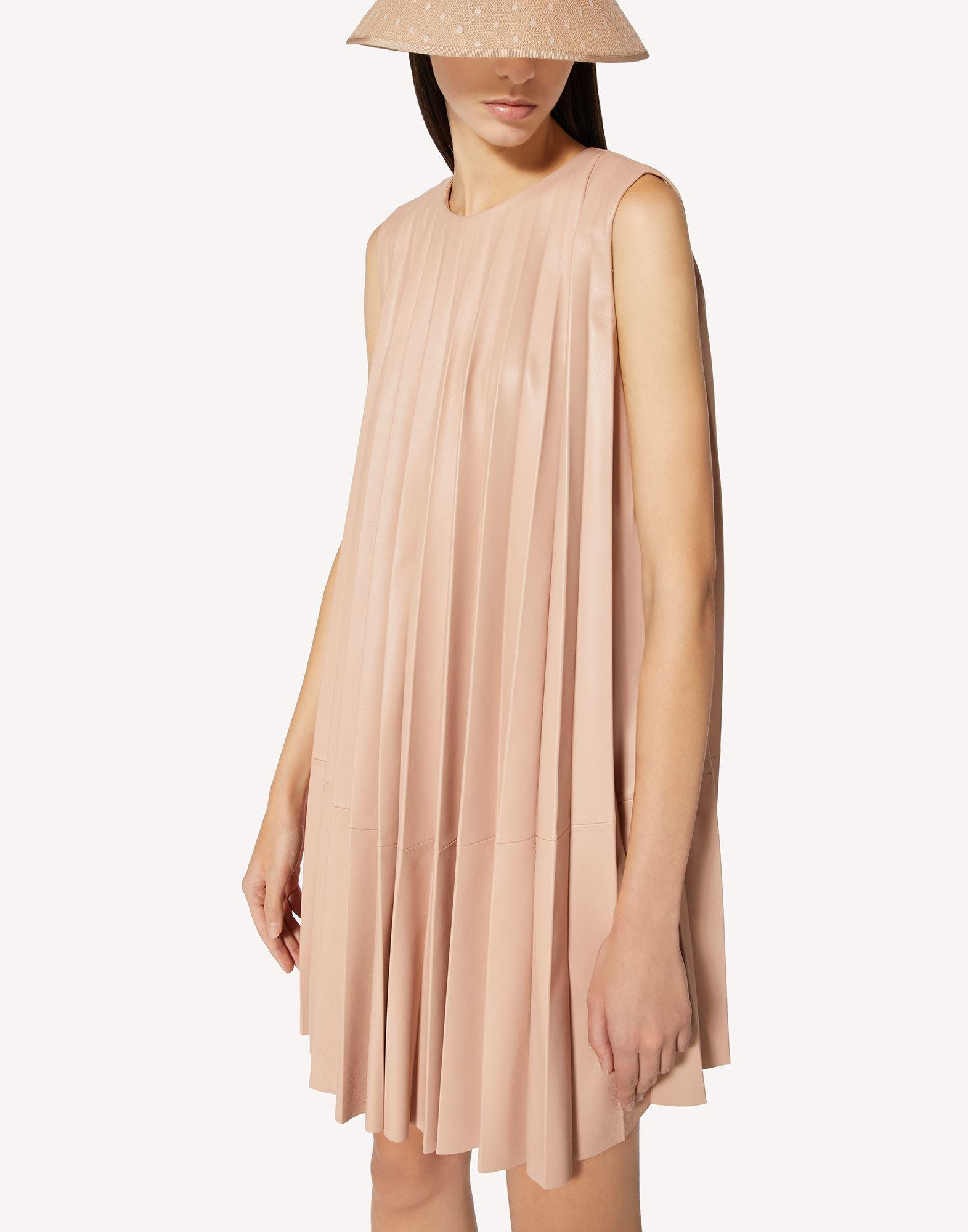PLEATED LEATHER DRESS 3
