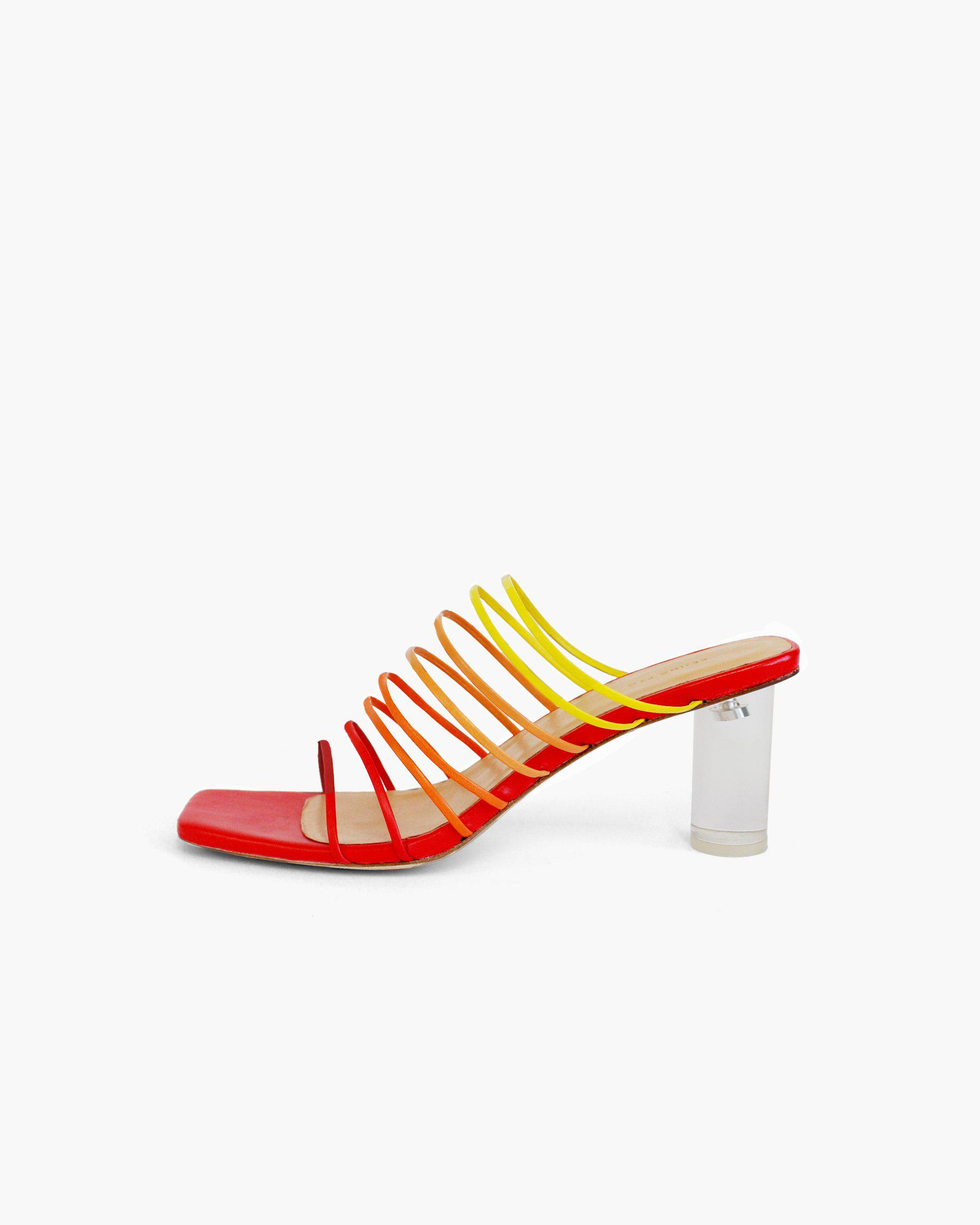 Zoe Sandals Leather Ombre Salsa -SPECIAL PRICE