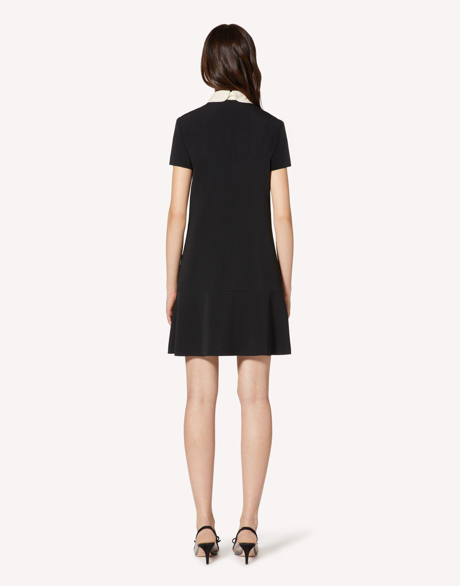 FRISOTTINO DRESS WITH COLLAR DETAIL 1