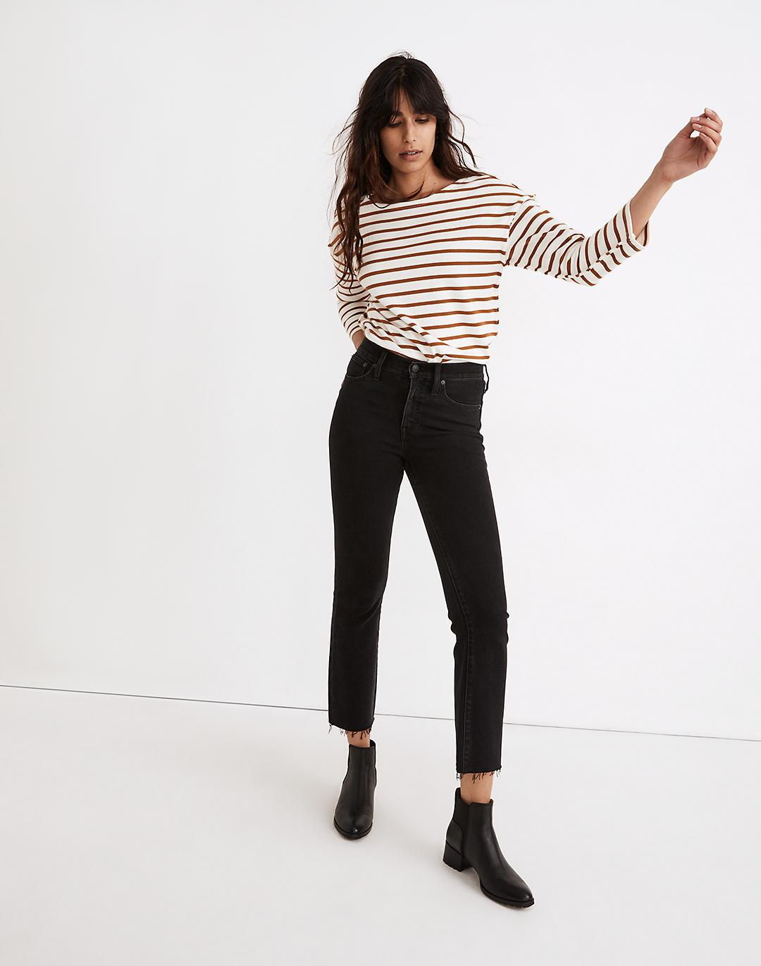 Cali Demi-Boot Jeans in Edmunds Wash: Raw-Hem Edition