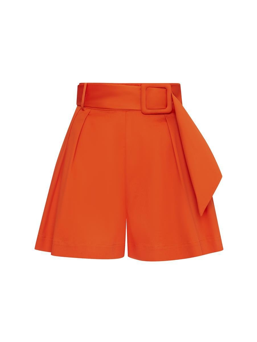 PLEATED COTTON SHORTS 5