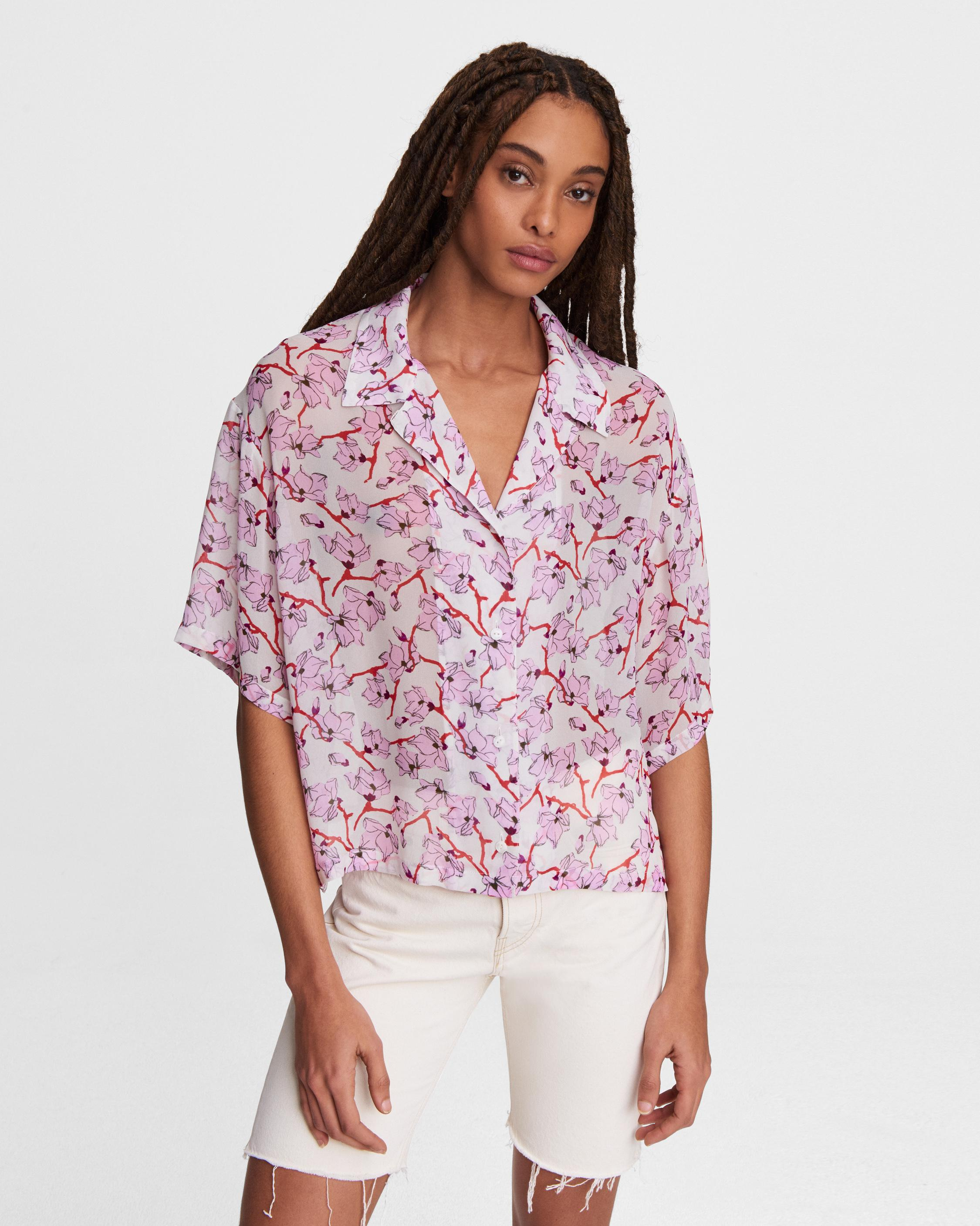 Reed floral viscose top