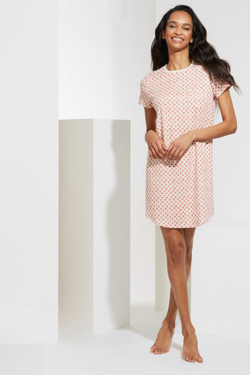 QUILTED HEARTS T-SHIRT DRESS