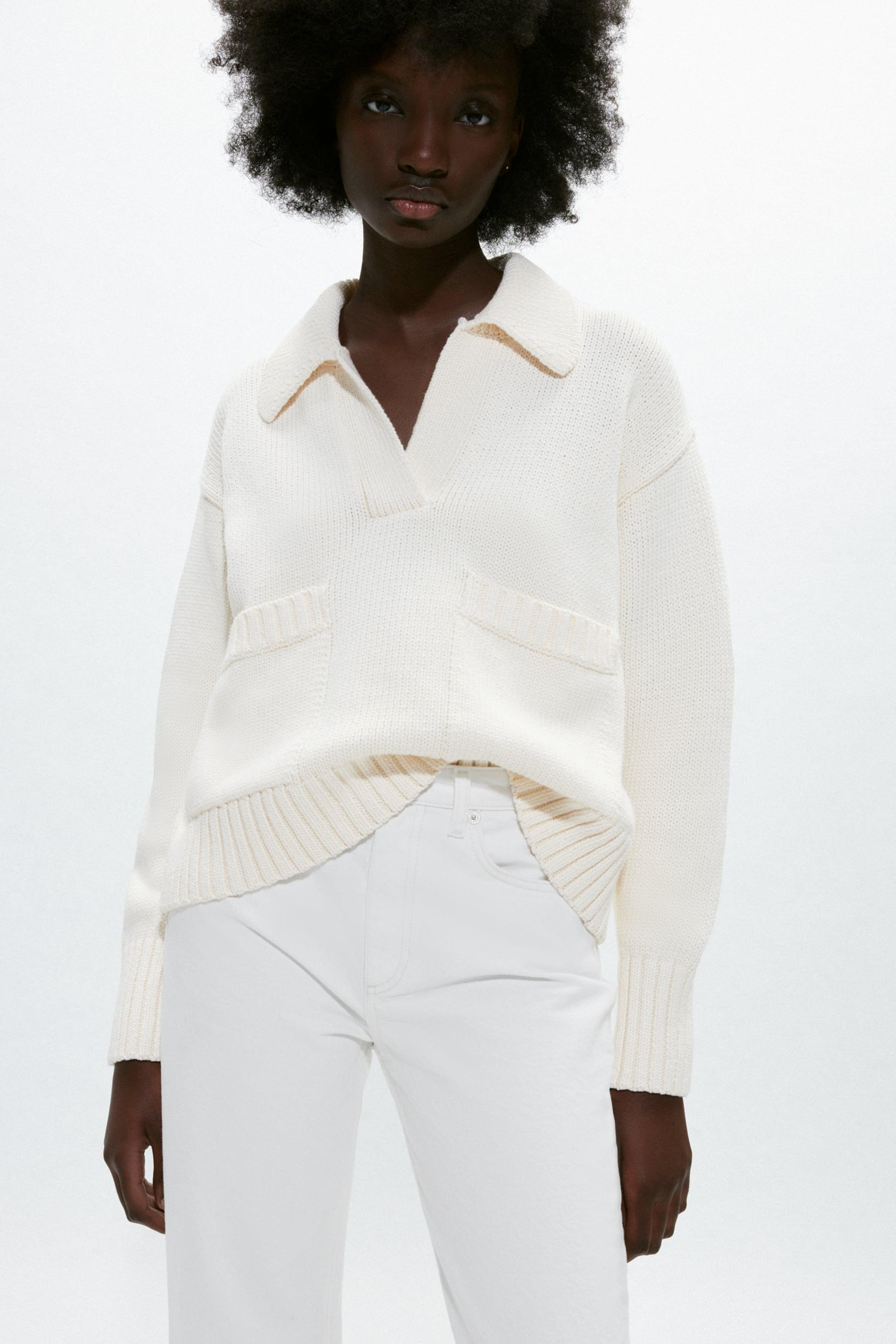 POLO COLLAR KNIT SWEATER