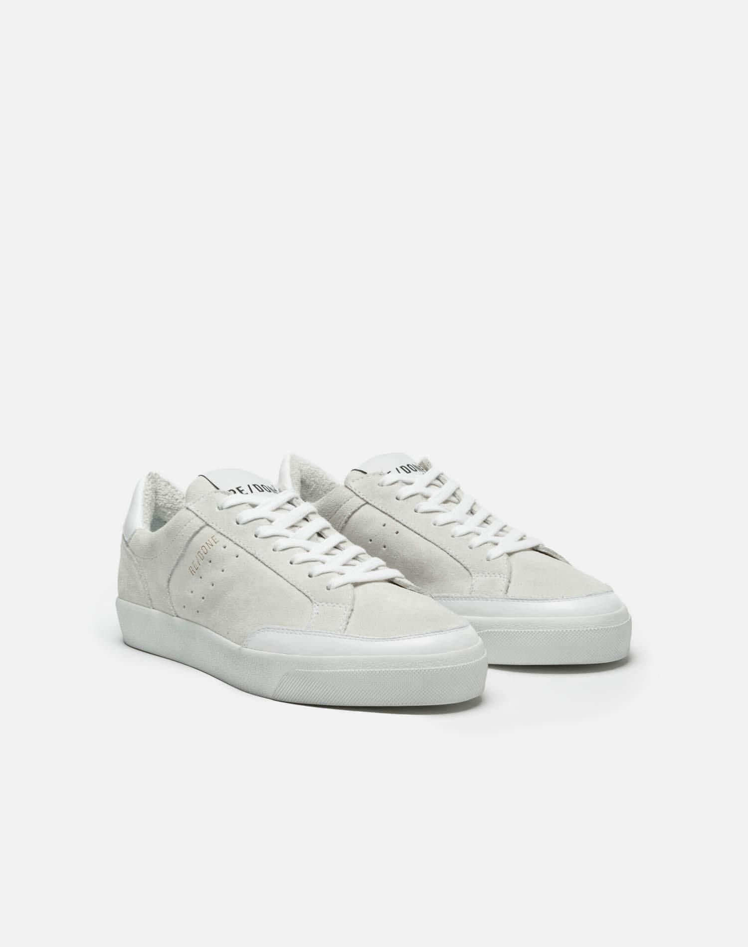 90s Skate Shoe - White Suede 1