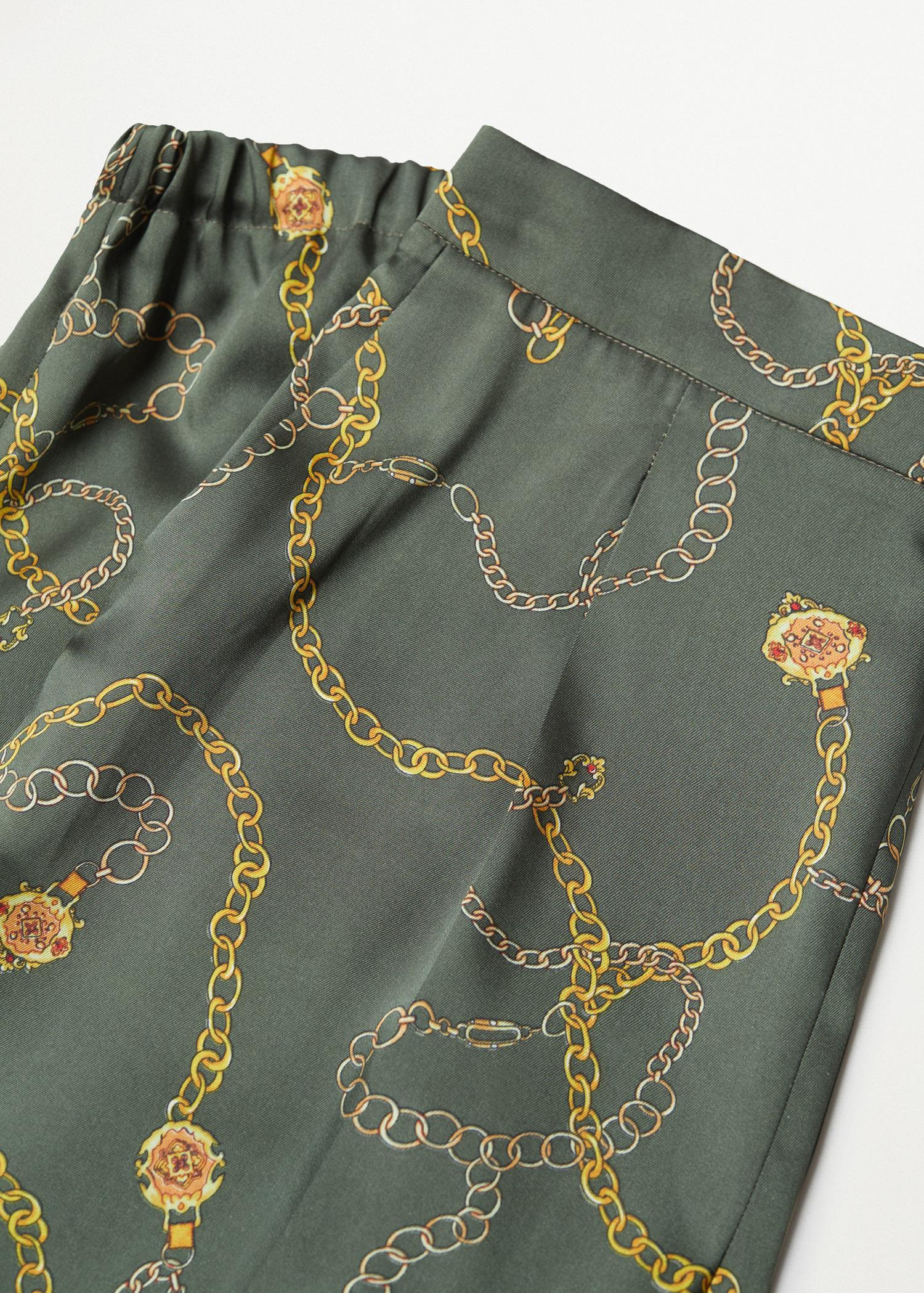Satin-finish pants with pleat detail 4