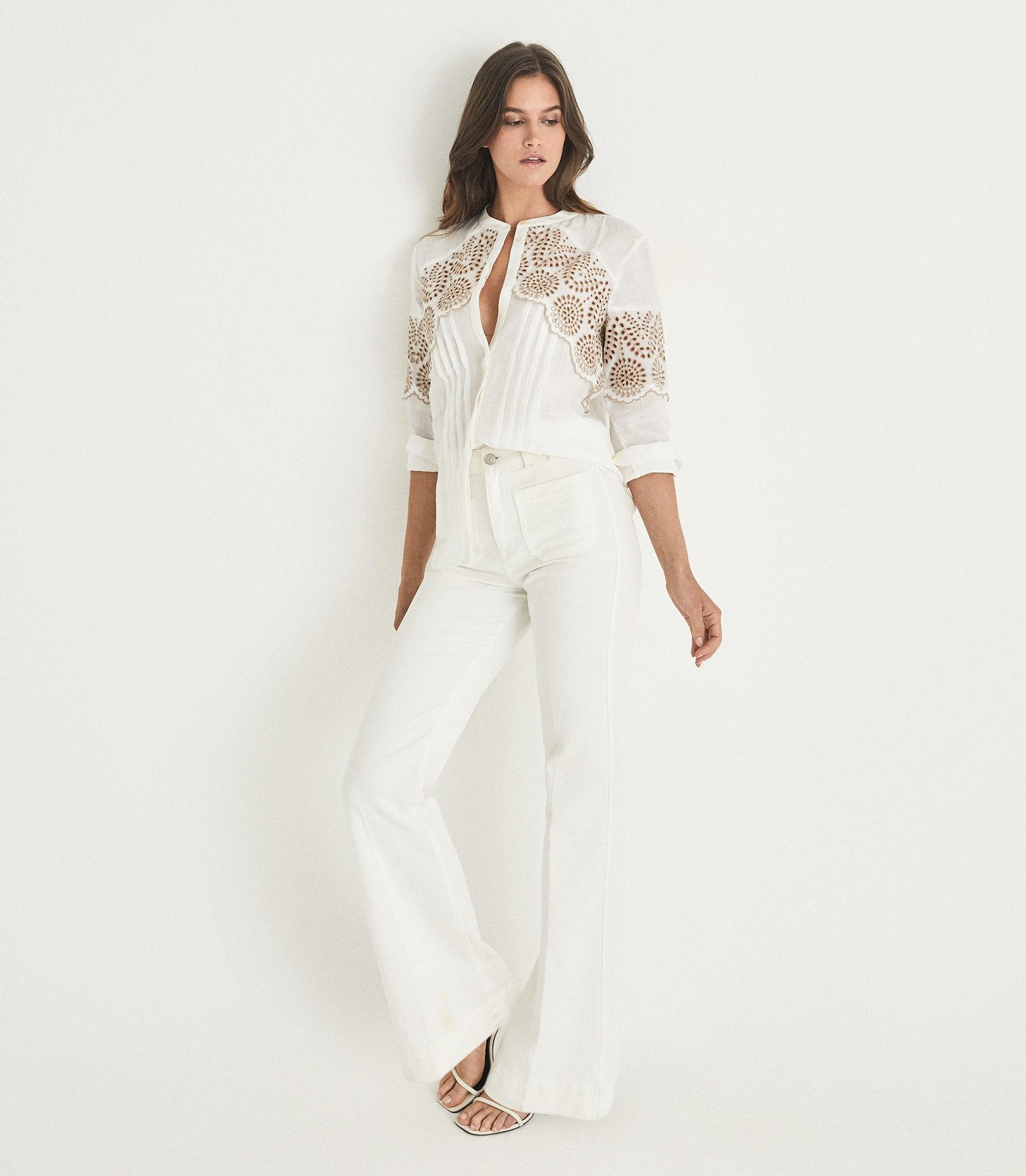 RILEY - RELAXED FIT EMBROIDERED SHIRT