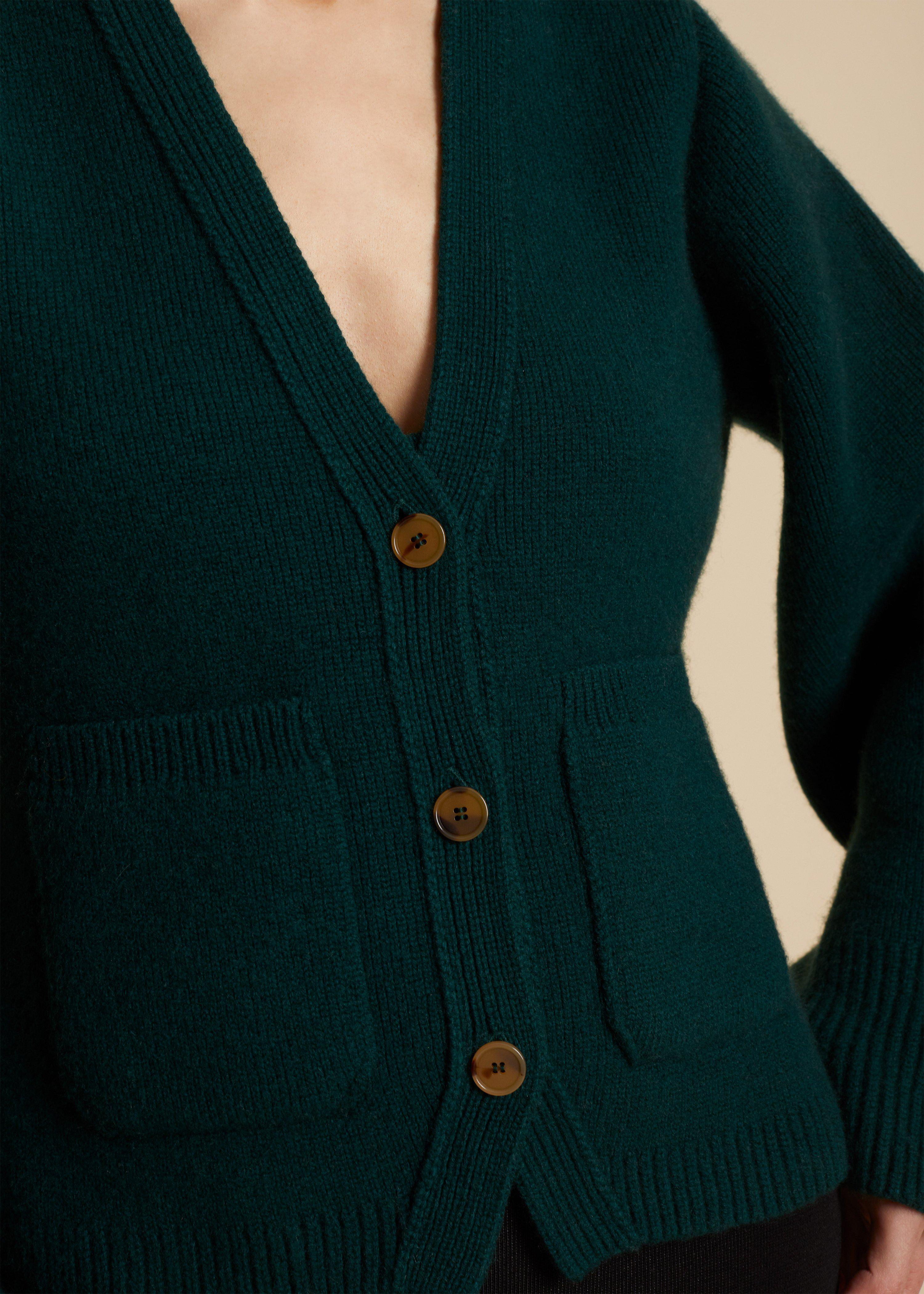 The Scarlet Cardigan in Evergreen 4
