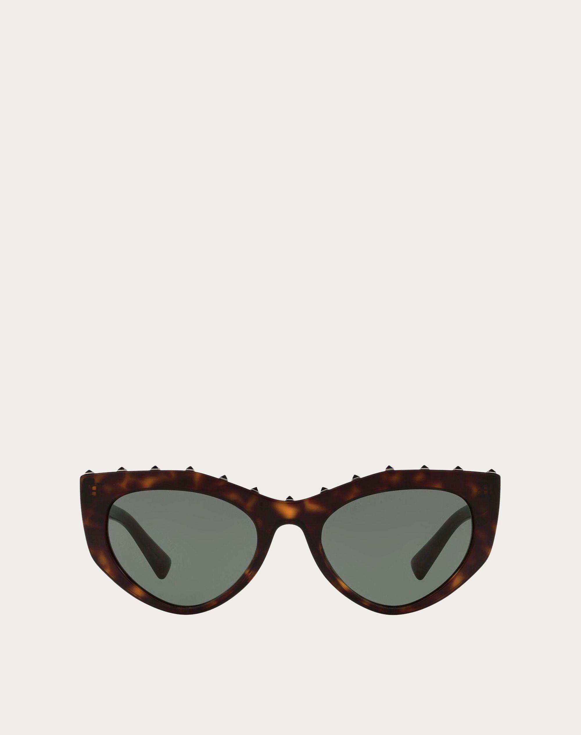 CAT-EYE ACETATE SUNGLASSES WITH STUDS